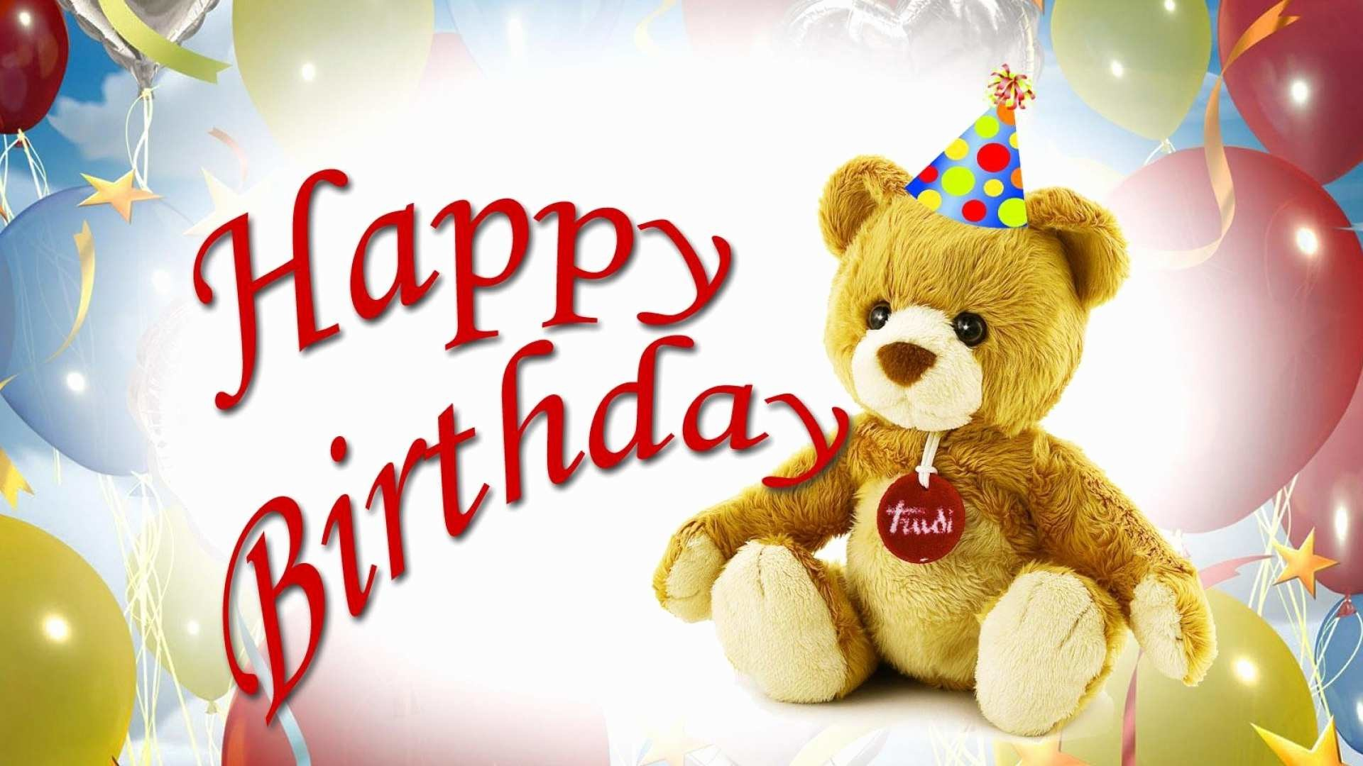 Res: 1920x1080, Happy Birthday Images Hd Free Download Best Of Teddy Bear Wallpapers Free  Download Impremedia