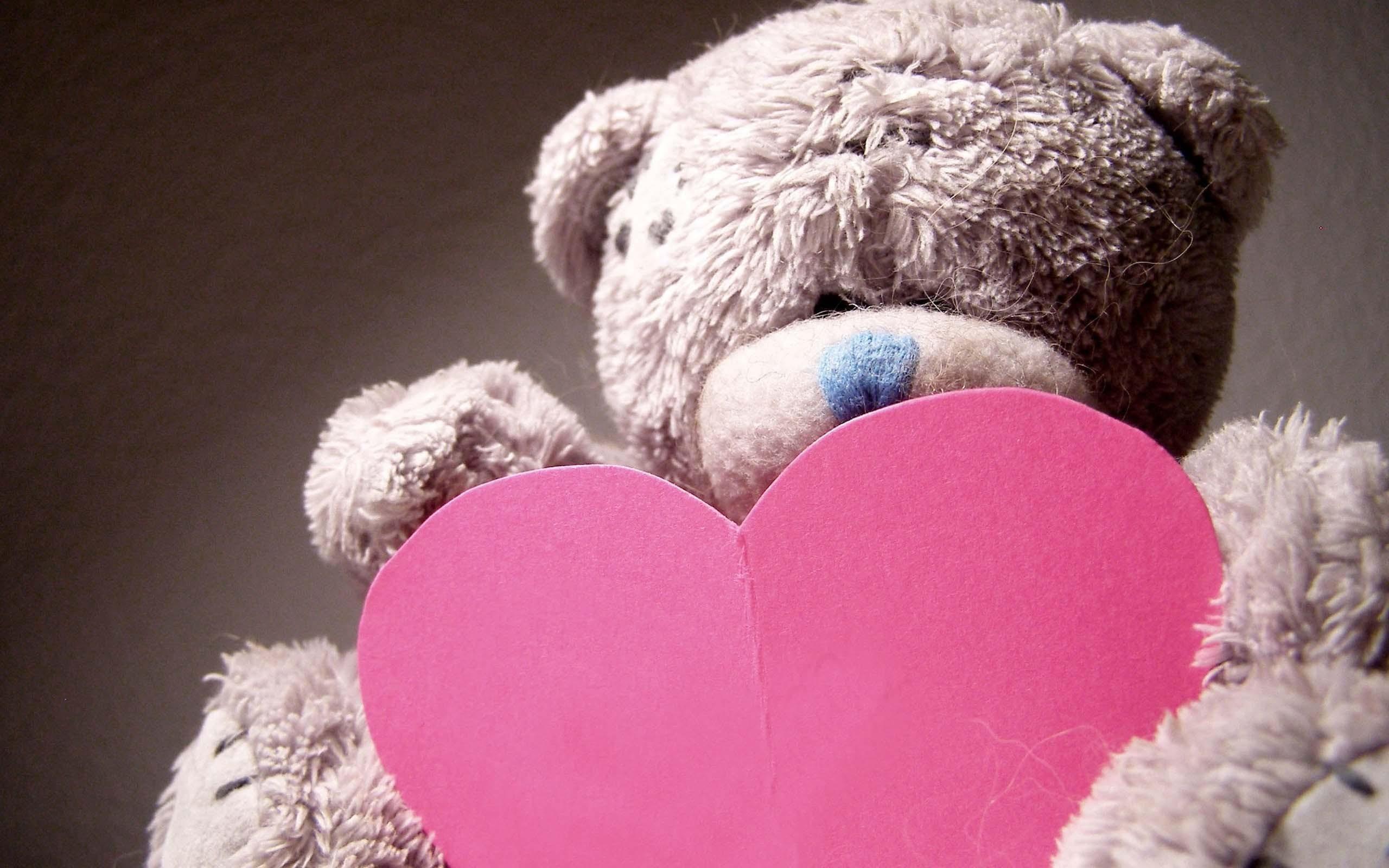 Res: 2560x1600, Hearts love teddy bears wallpaper