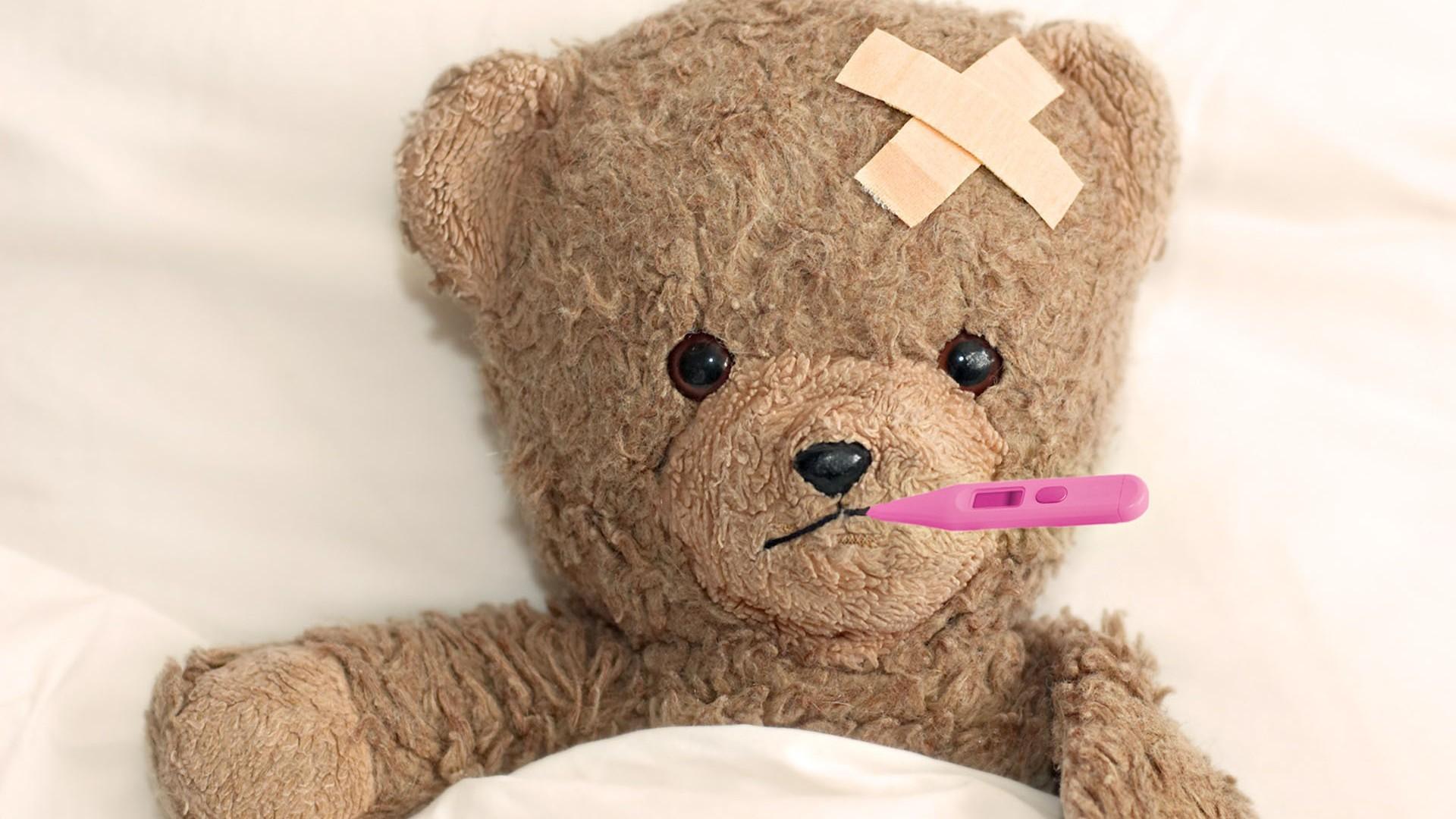 Res: 1920x1080, Sad Sick Teddy Bear Wallpaper