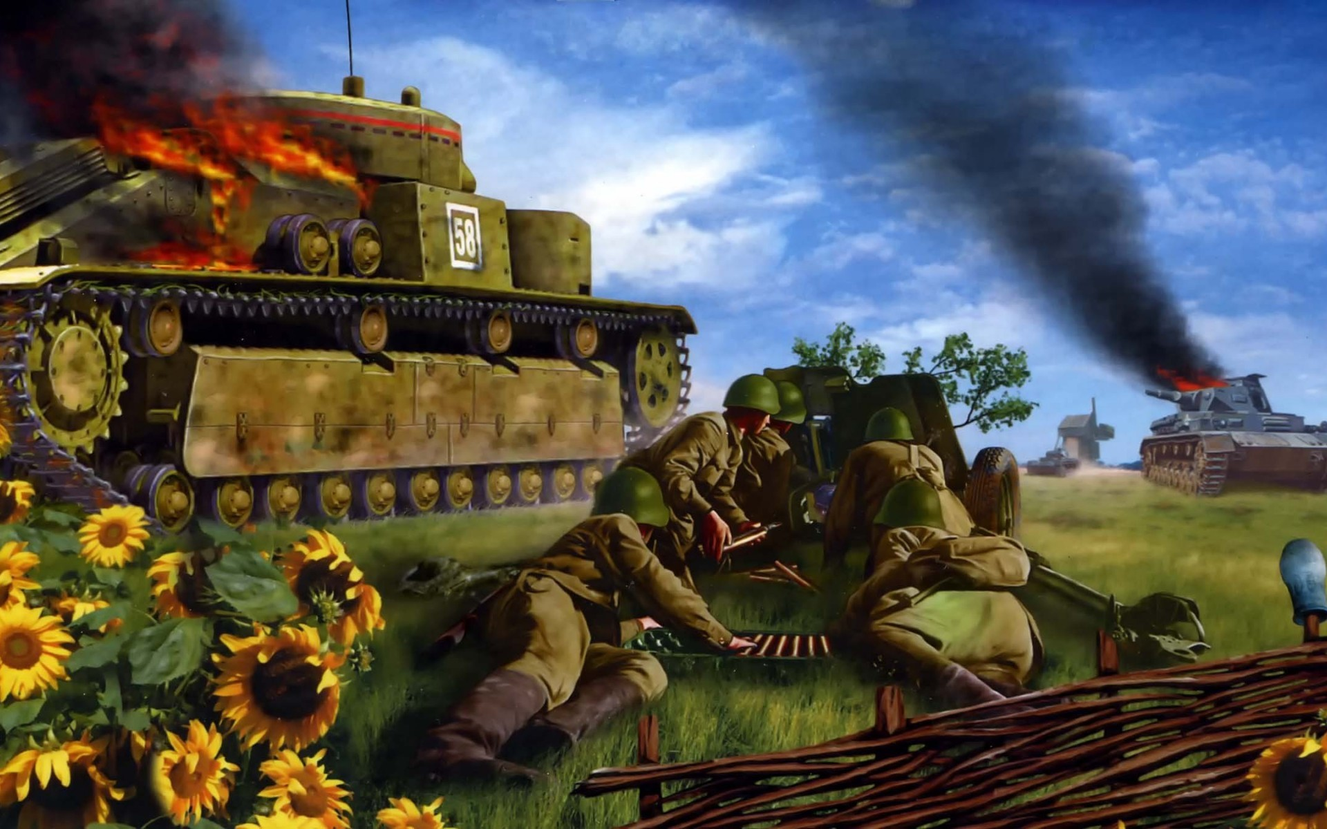 Res: 1920x1200, Battle for Kiev1942 T-35 art paintings military weaons warrior soldiers tanks  ww2 wwll wallpaper |  | 35326 | WallpaperUP