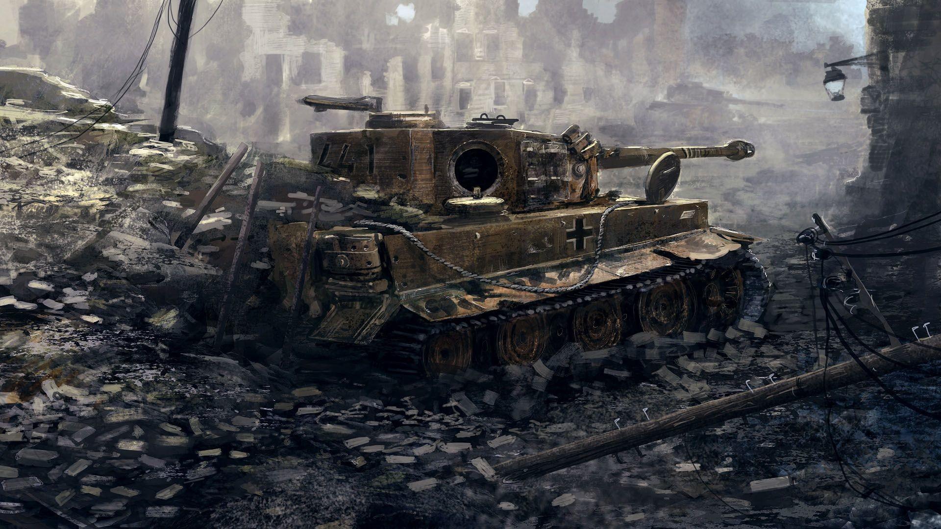 Res: 1920x1080, Tiger Tank Wallpaper WallDevil