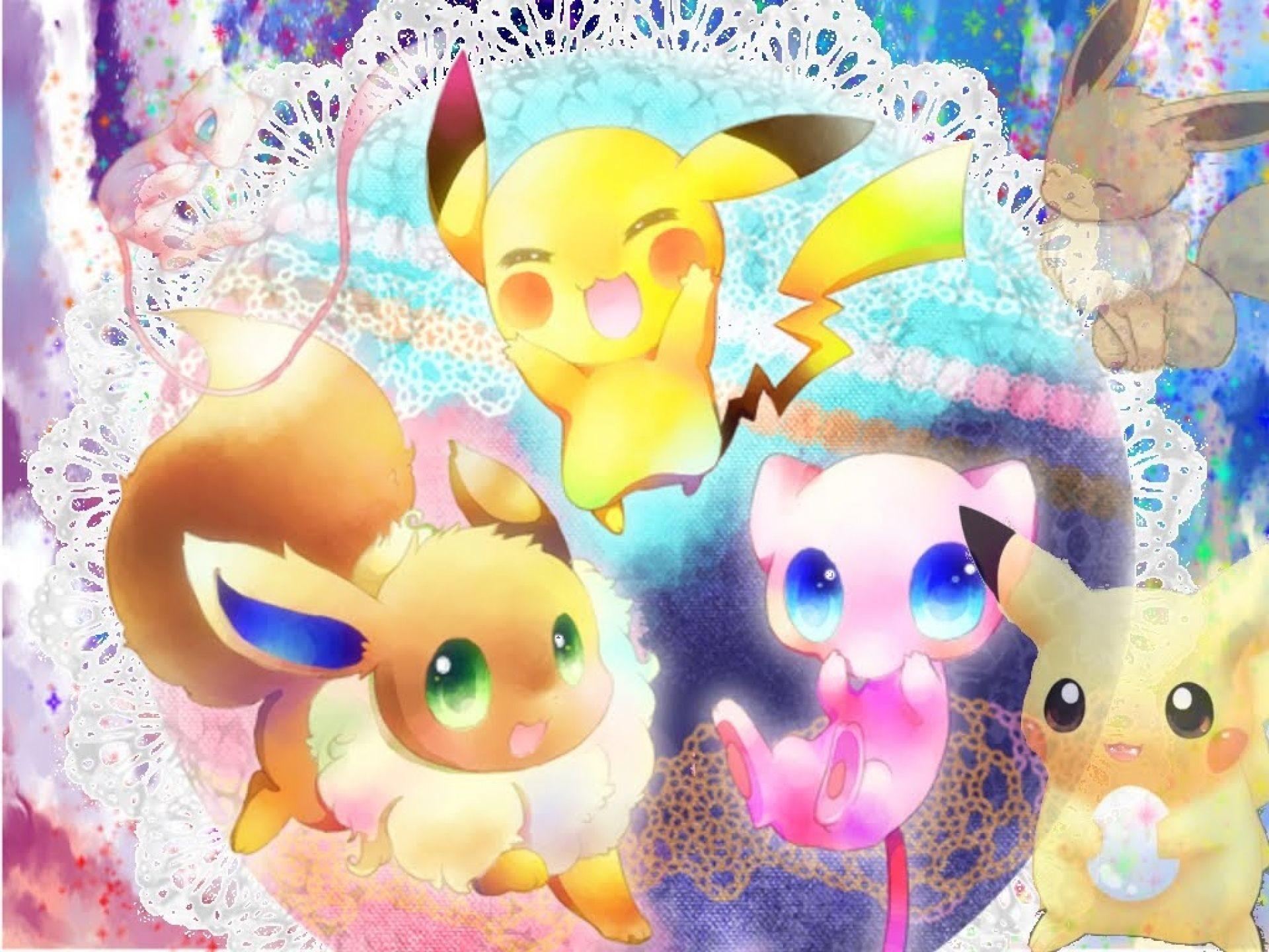 Res: 1920x1440, HD wallpaper Cute Pokemon Wallpaper Free #48t0 | Desktop HD wallpaper.  Stock photos HD