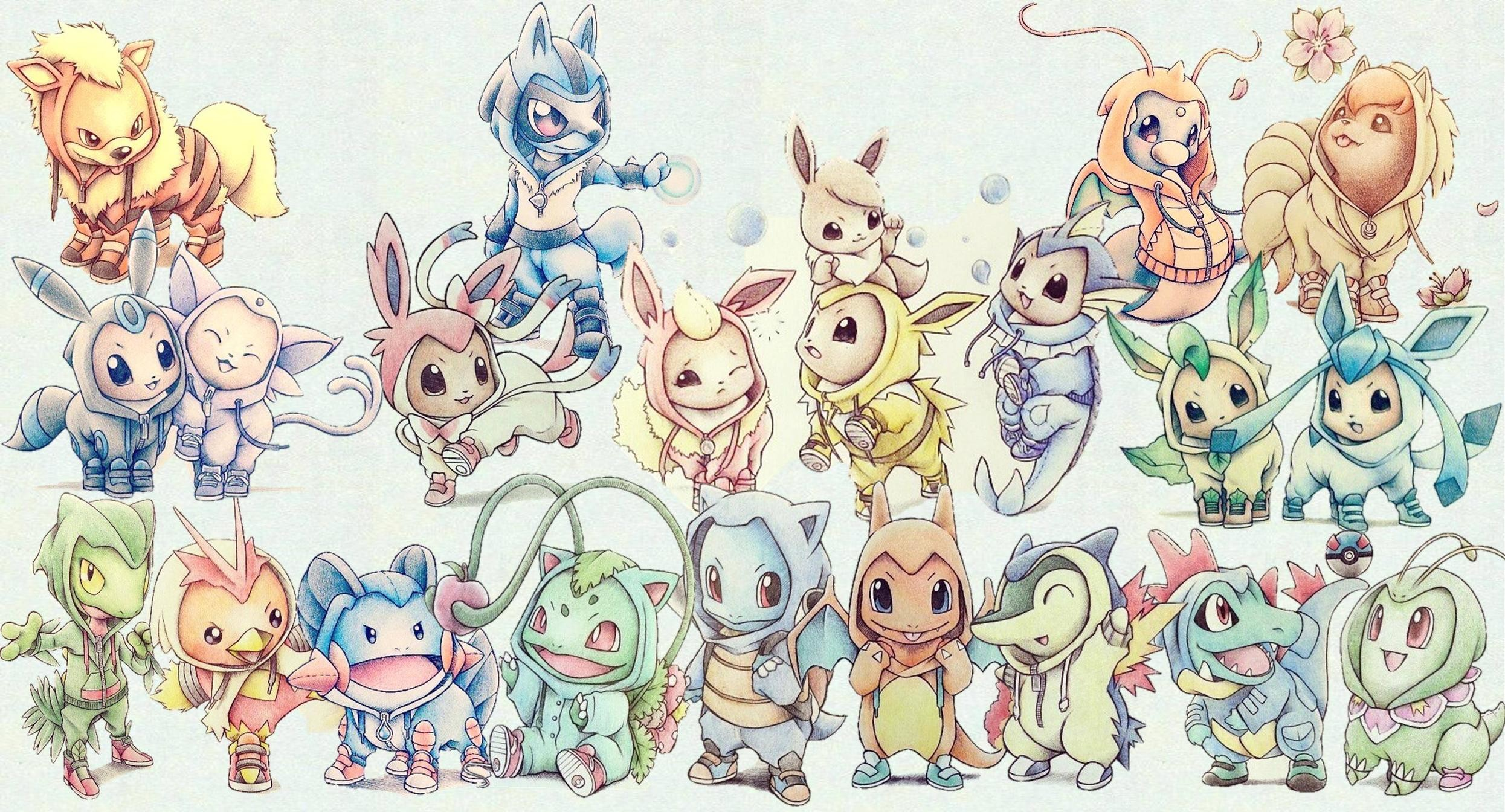 Res: 2491x1344, Cute Pokemon Wallpapers Widescreen