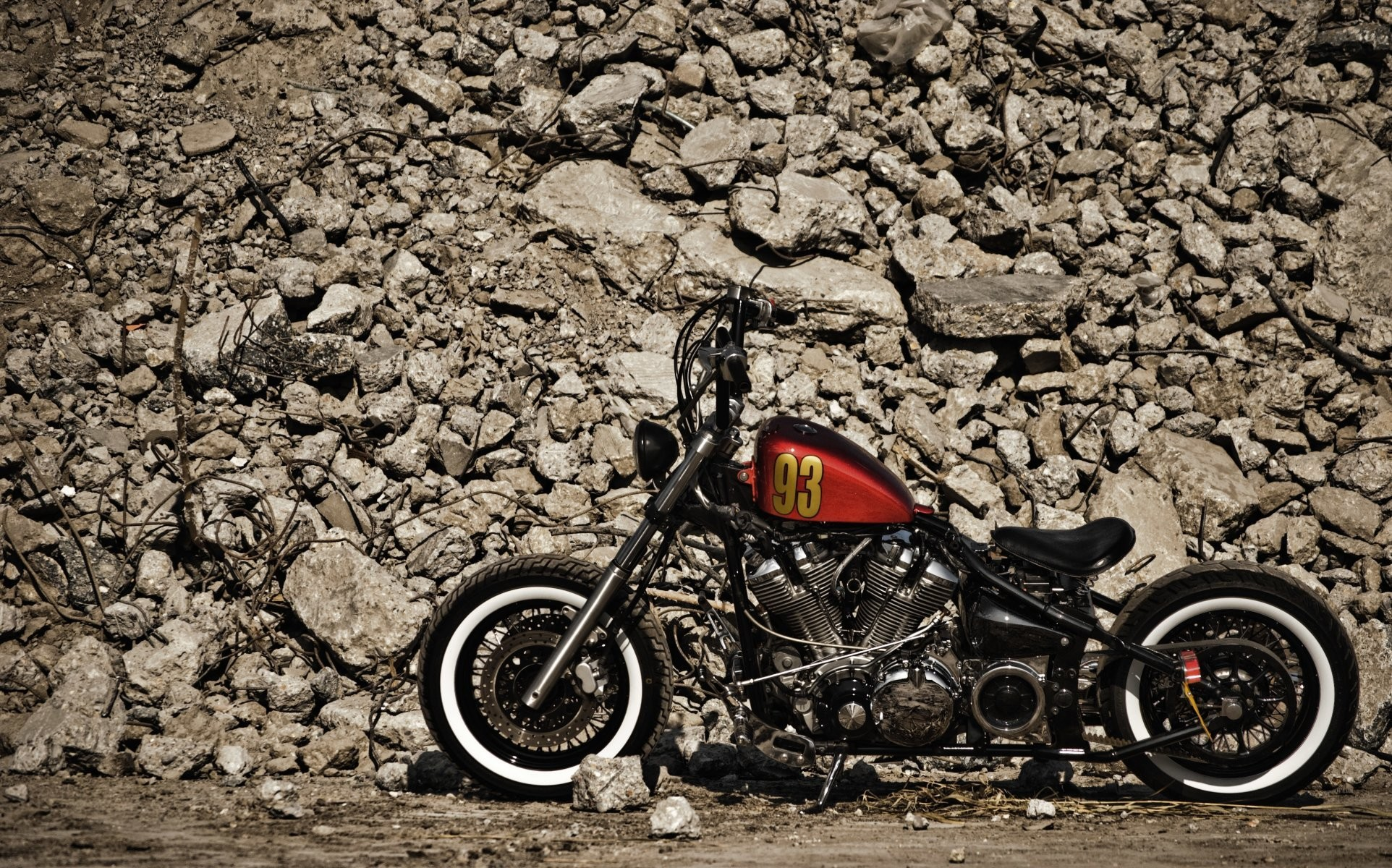 Res: 1924x1200, xv1600 bobber bike design stones
