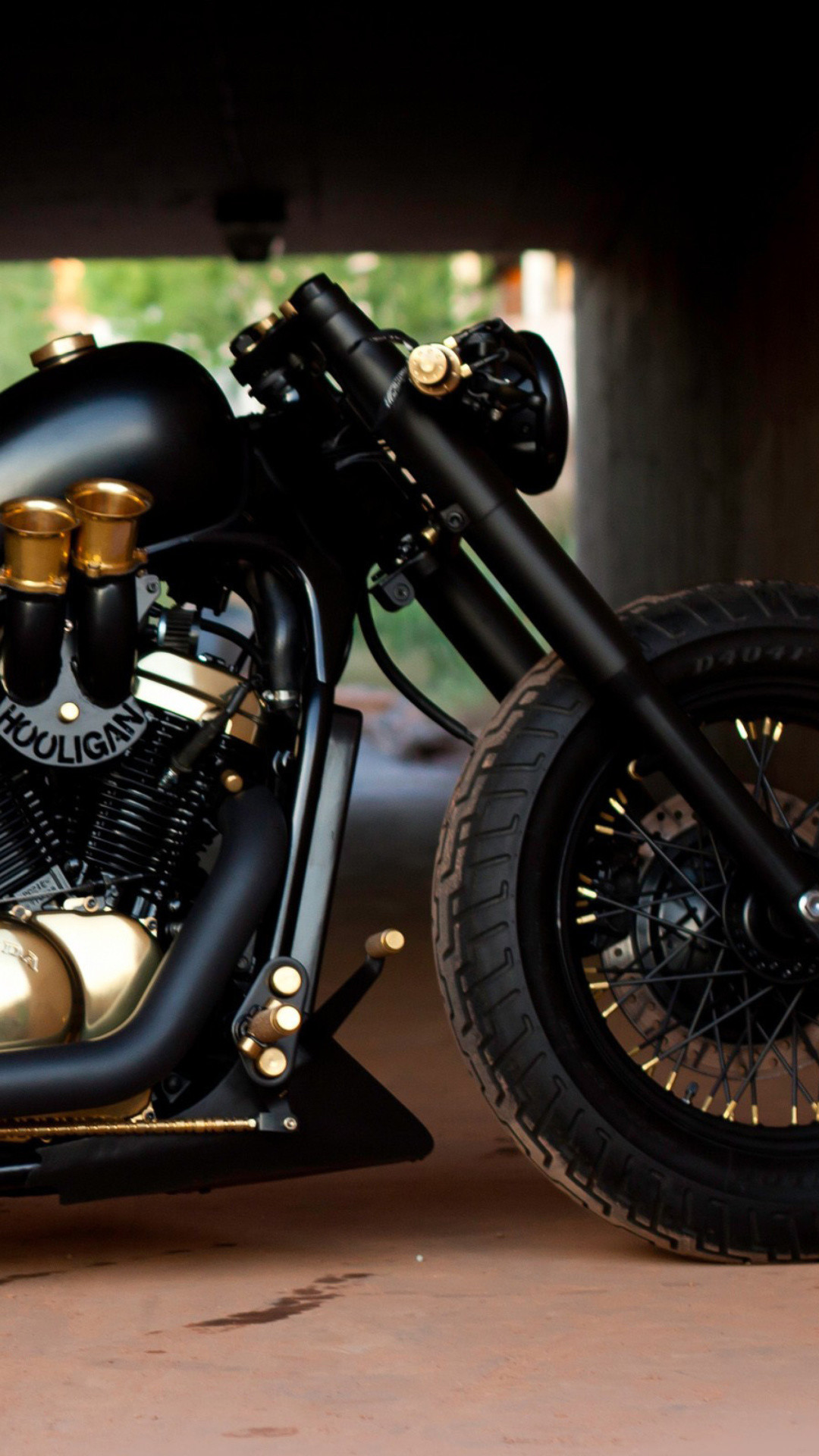 Res: 1080x1920, Bobber Hooligan Bike Wallpaper for iPhonePlus
