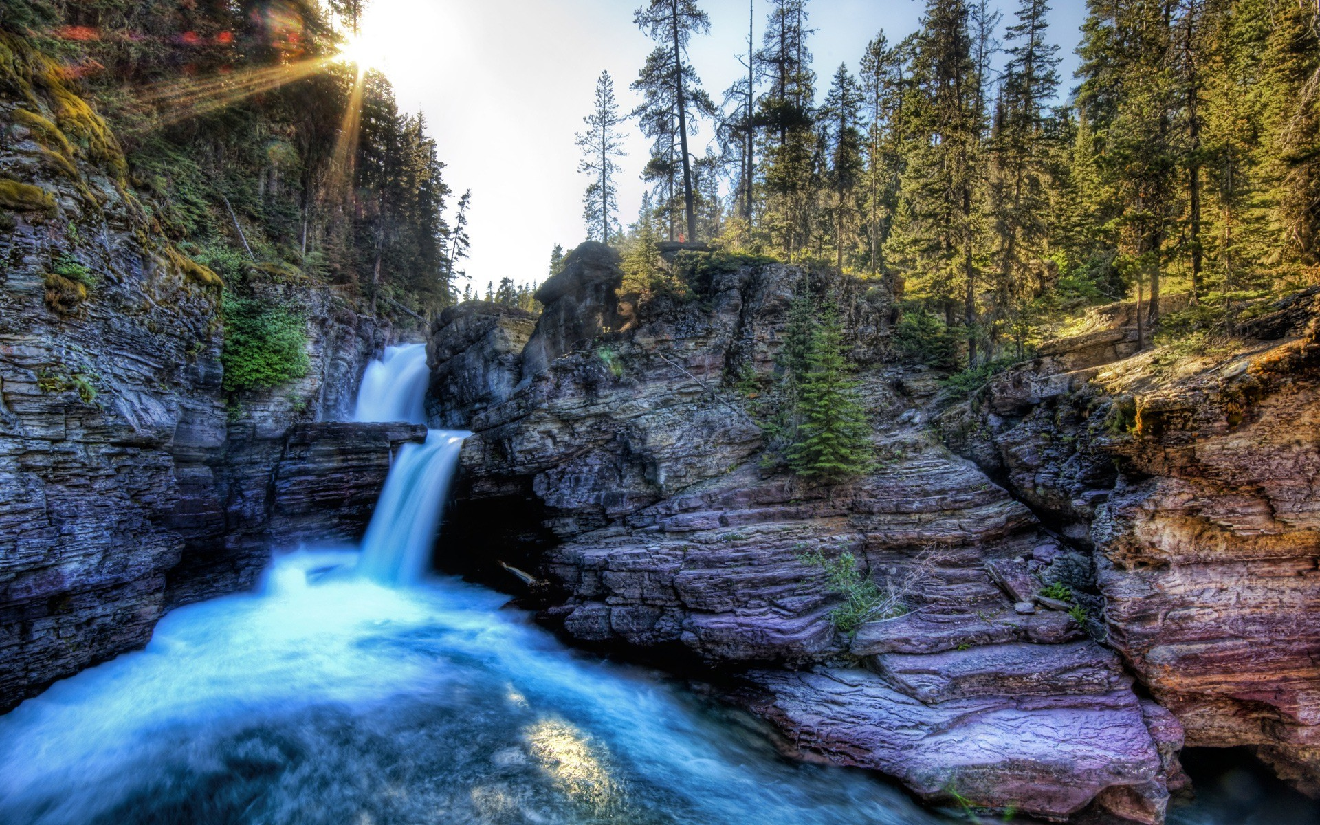 Res: 1920x1200, Canyon Oasis Wallpaper High Dynamic Range Nature Wallpapers