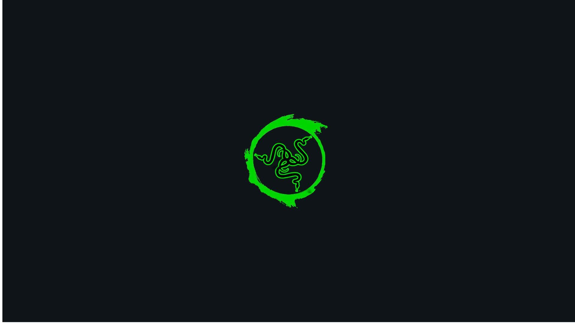 Res: 1920x1080, Green on Black Razer Gaming Wallpaper for Phone and HD Desktop Backgrounds