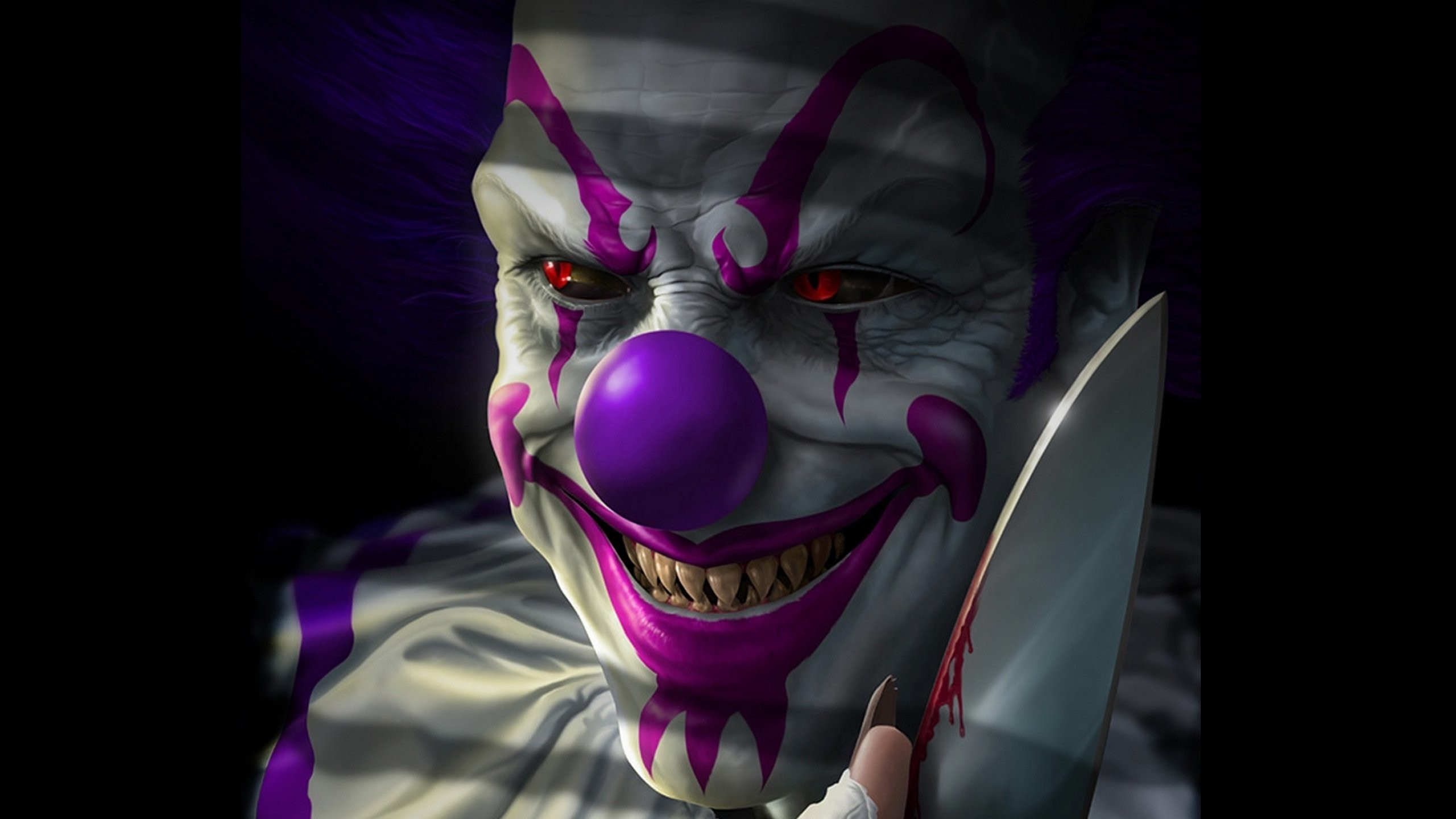 Res: 2560x1440, 1920x1080 10. scary-clown-wallpaper-HD10-600x338