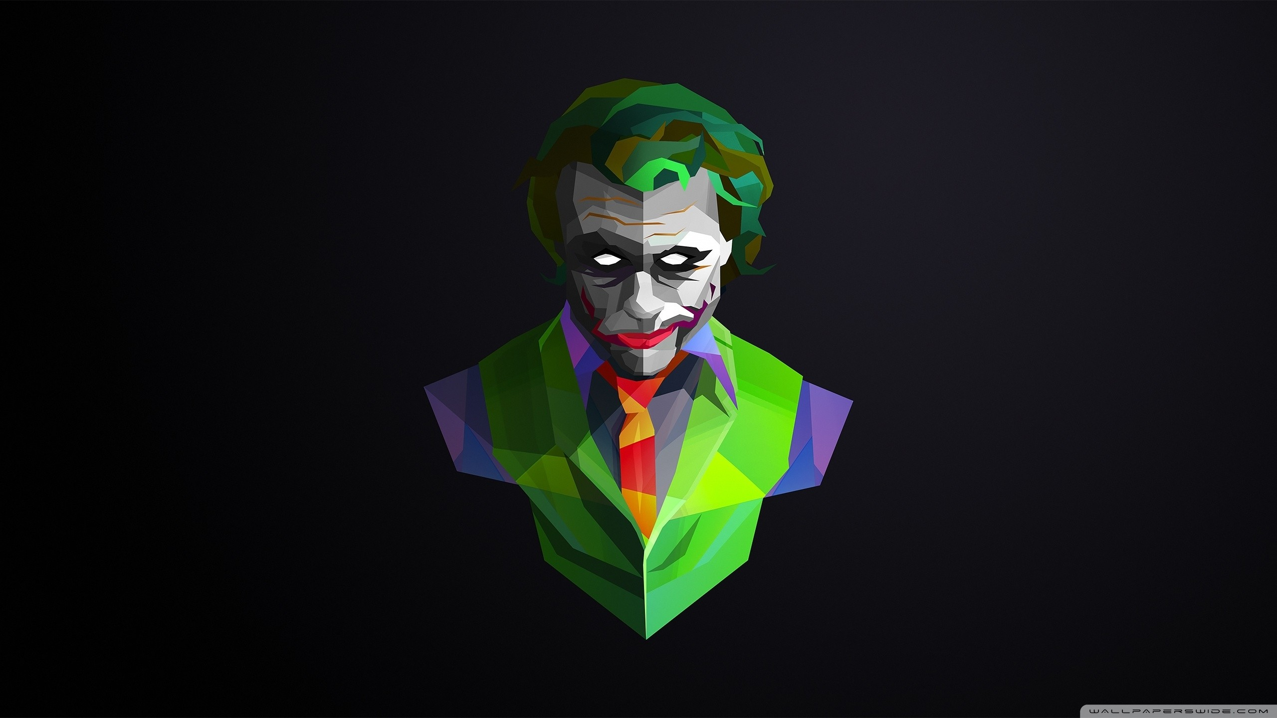 Res: 2560x1440, Title : wallpaperswide ❤ joker hd wallpapers for 4k ultra hd tv ☆ wide.  Dimension : 2560 x 1440. File Type : JPG/JPEG