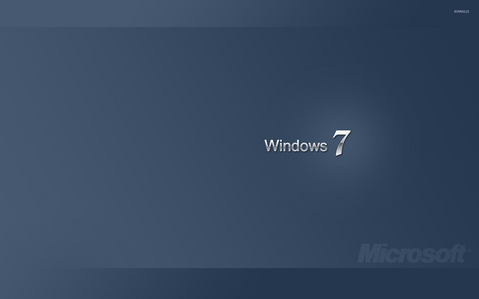 Res: 1920x1200, White Windows 7 on blue gradient wallpaper