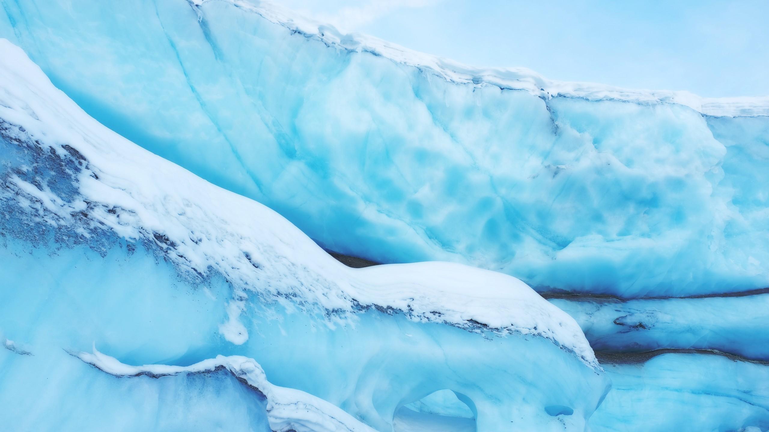 Res: 2560x1440, Ice, Snow, Glacier