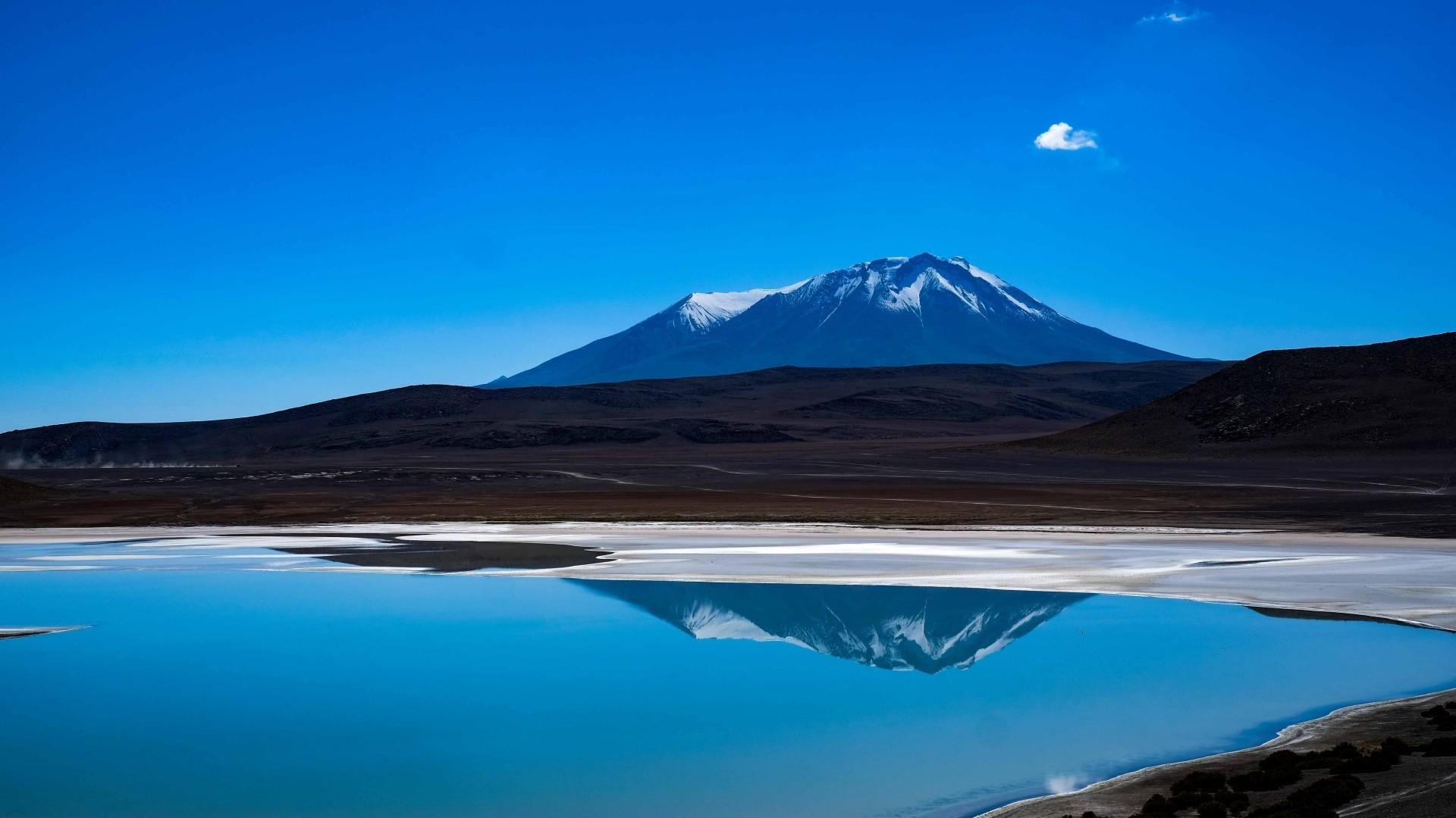 Res: 1920x1080, Mountain, Lake, Reflection, Snow, Glacier