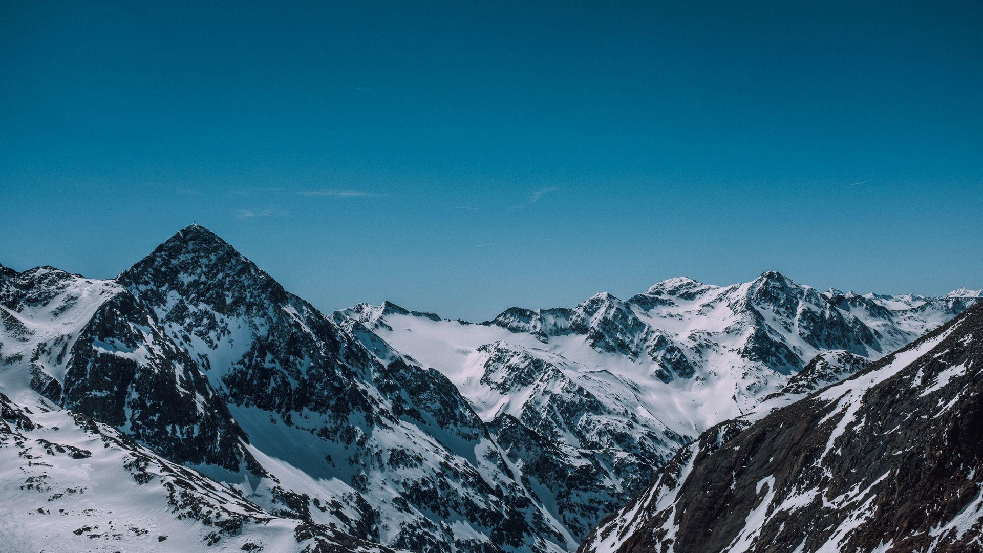 Res: 1920x1080, Stubai Glacier Snowy Mountains Wallpaper HD