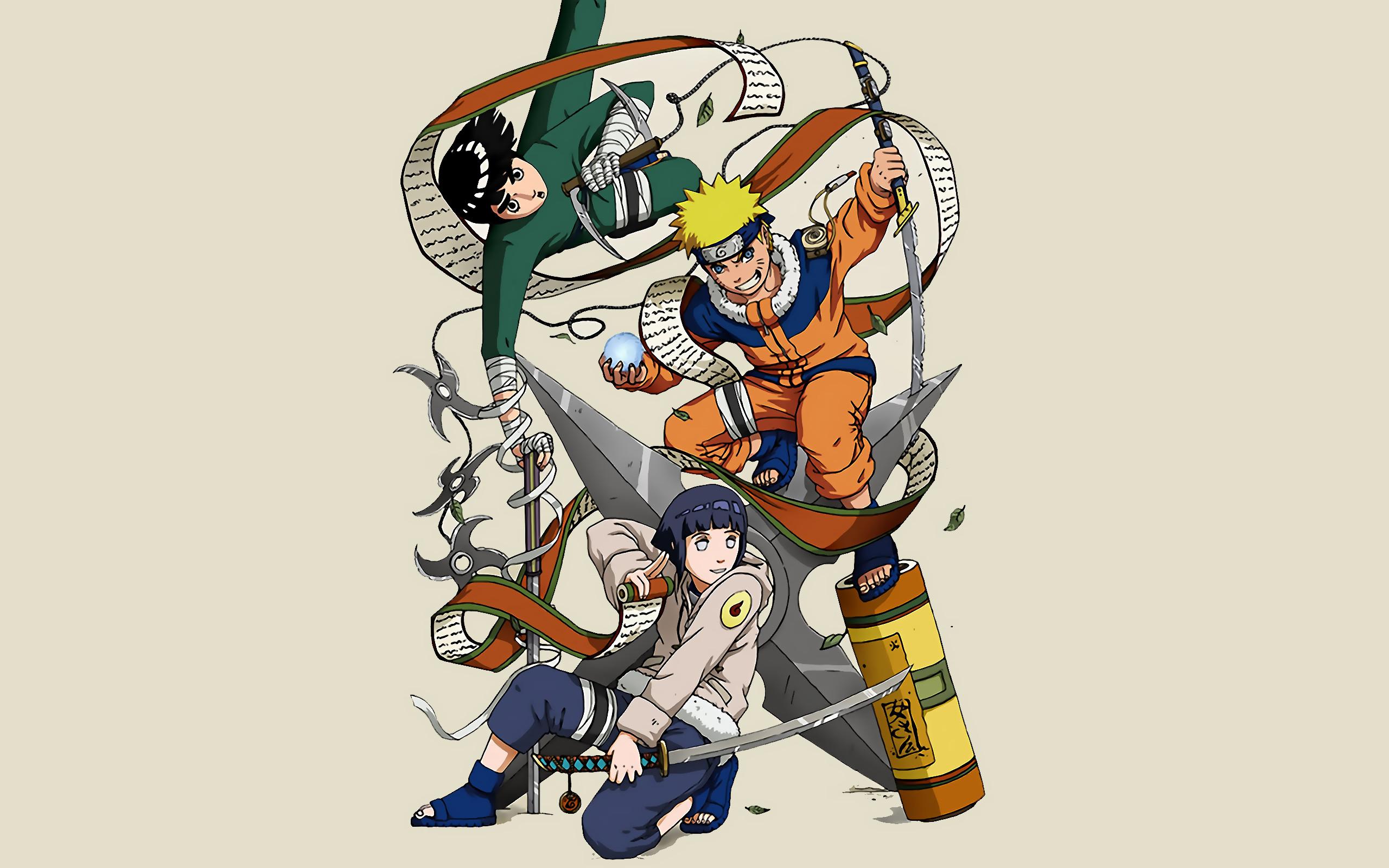 Res: 2560x1600, Naruto shippuden hyuuga hinata rock lee naruto uzumaki ninja scroll  wallpaper |  | 19098 | WallpaperUP