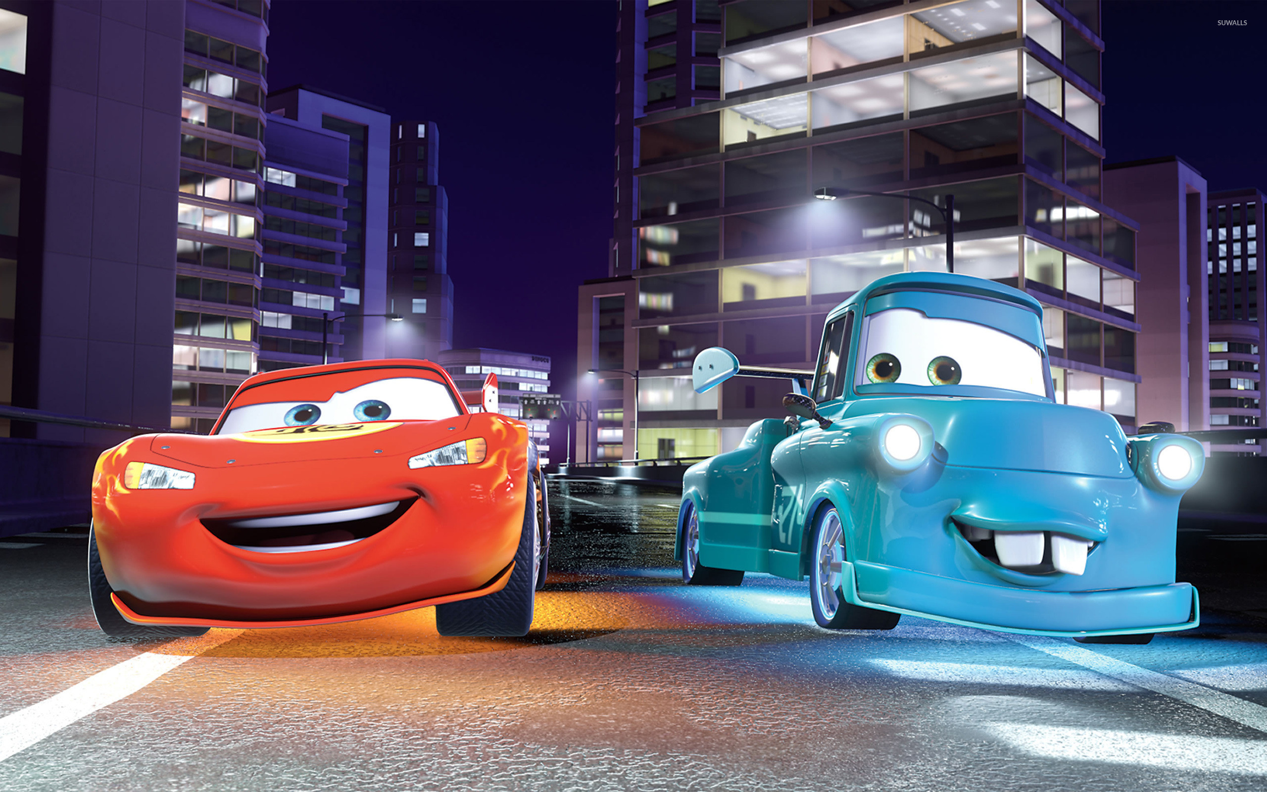Res: 2560x1600, Lightning McQueen and Mater - Cars wallpaper