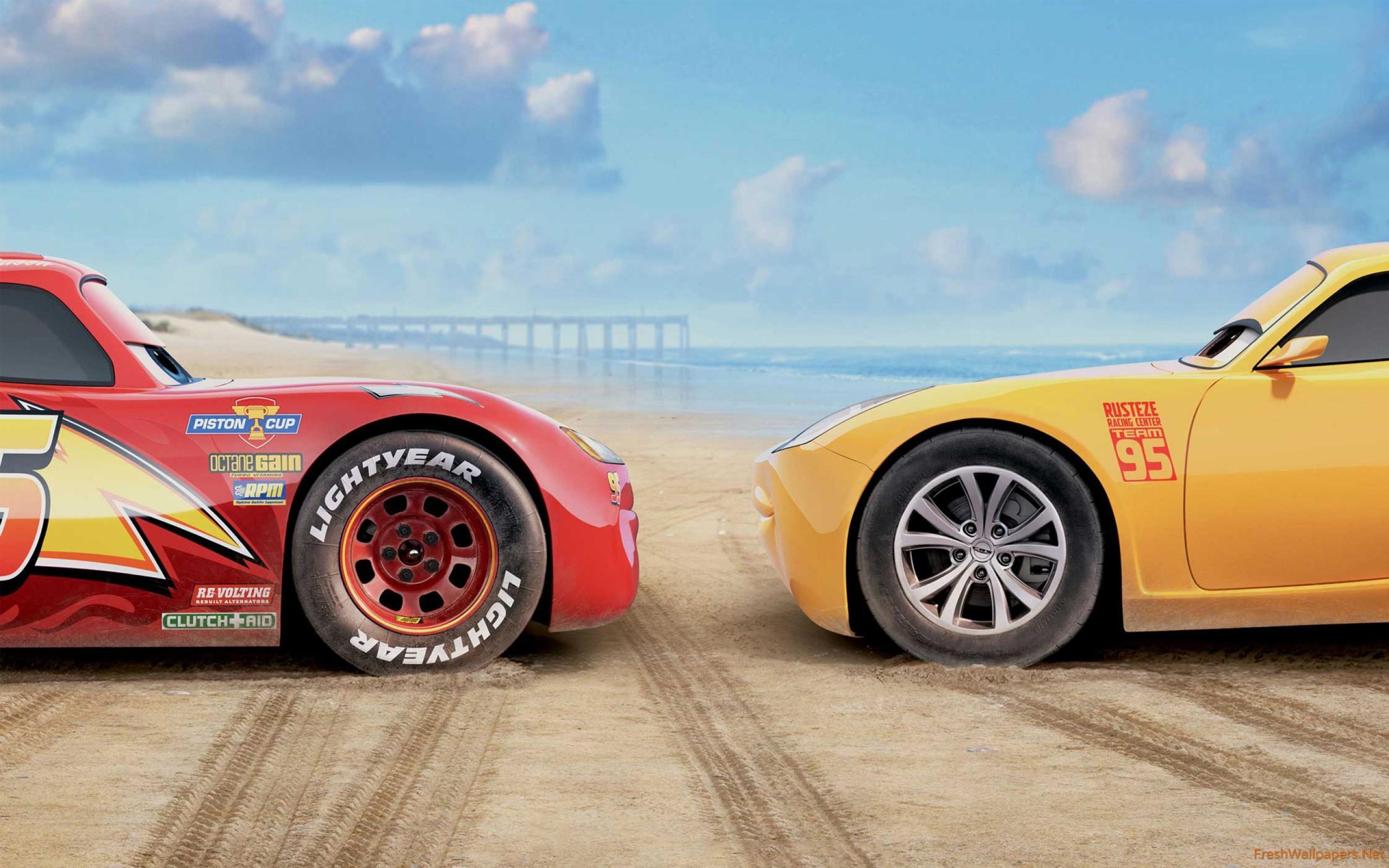 Res: 2560x1600, Cars 3 Lightning McQueen Cruz Ramirez wallpaper