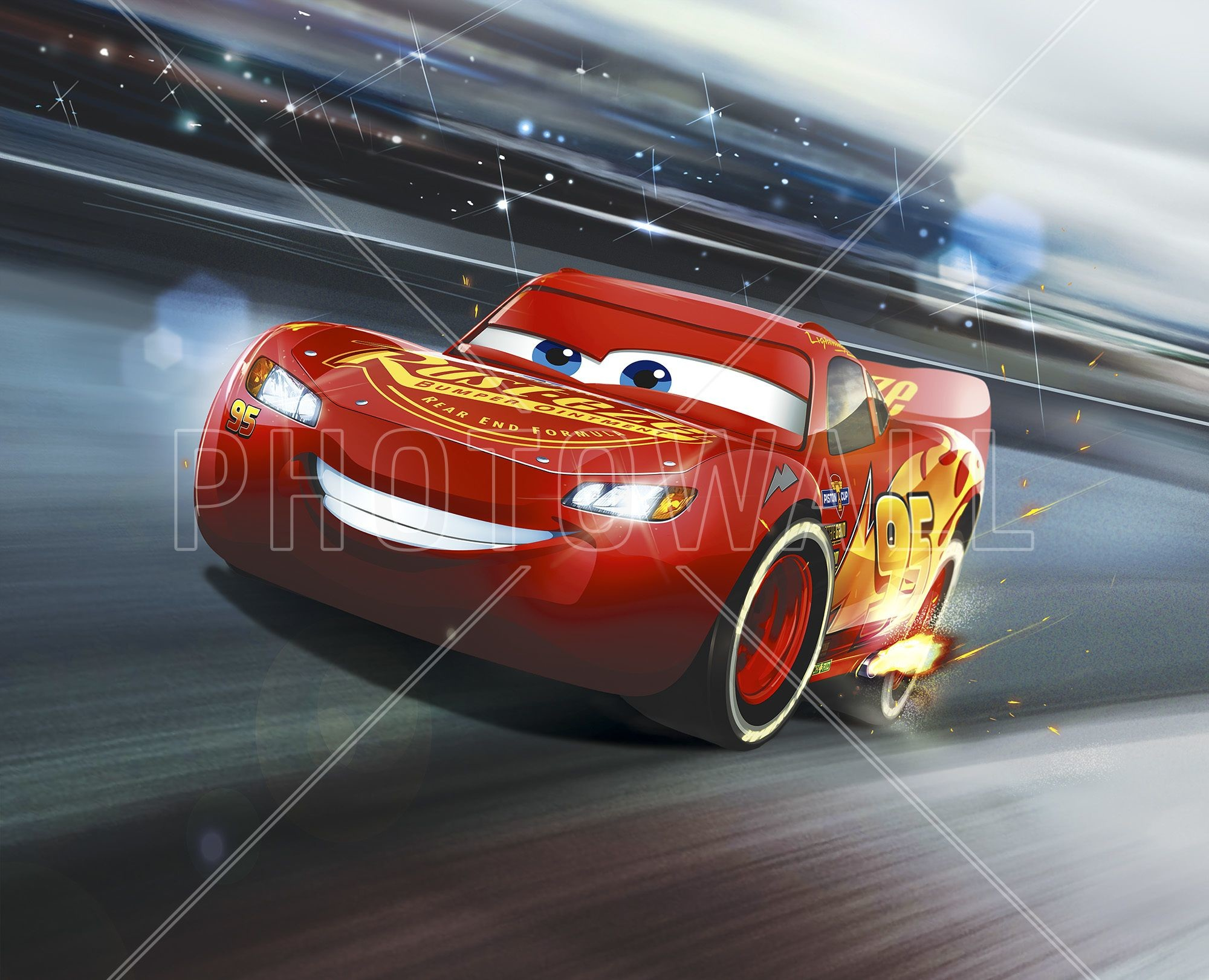 Res: 2000x1621, Cars 3 - Lightning McQueen - Legend of the Track - Wall Mural & Photo  Wallpaper - Photowall