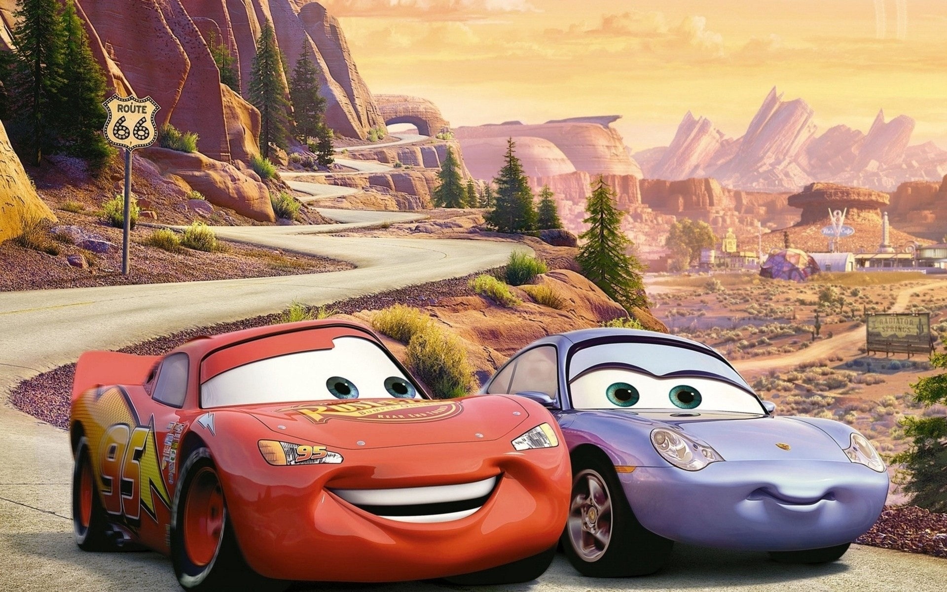 Res: 1920x1200, Lightning Mcqueen And Mater And Sally Hd Wallpaper