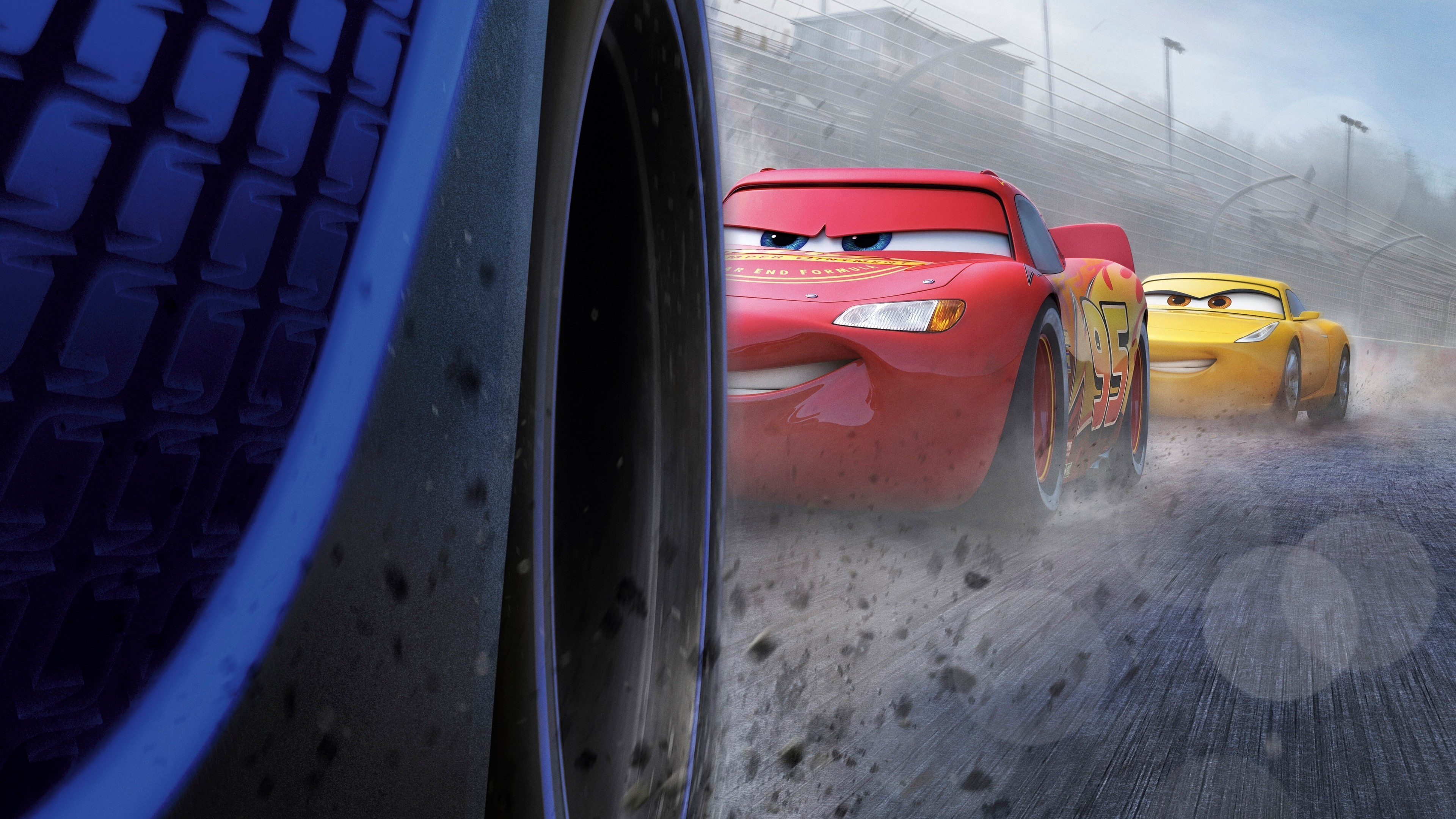 Res: 3840x2160, Cars 3, Lightning Mcqueen, Animation