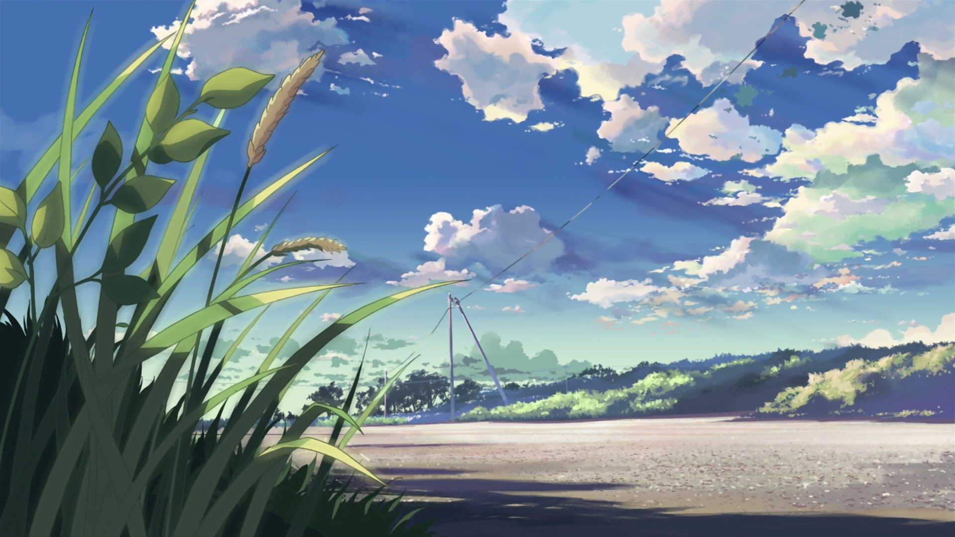 Res: 1920x1080, Anime Landscape Wallpaper HD.