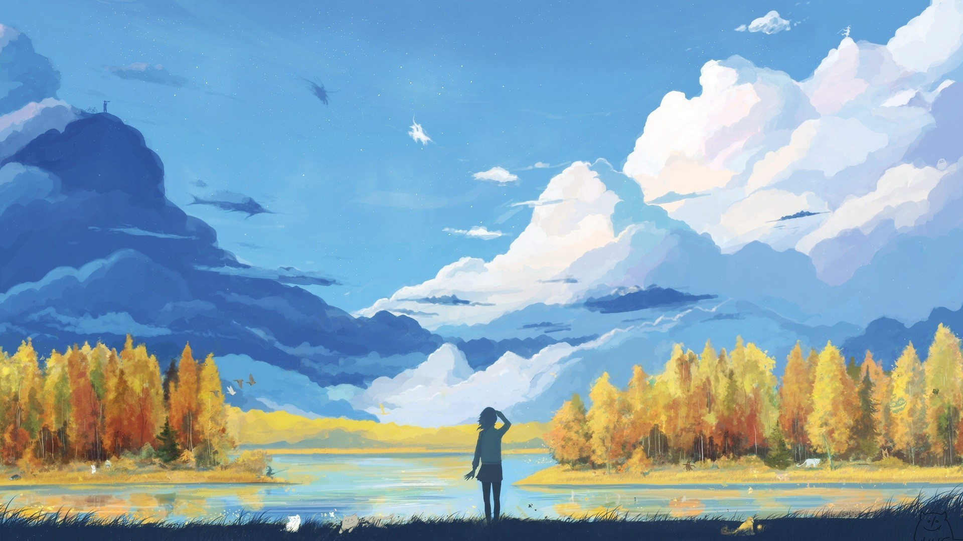 Res: 1920x1080, Anime Nature Wallpaper 57