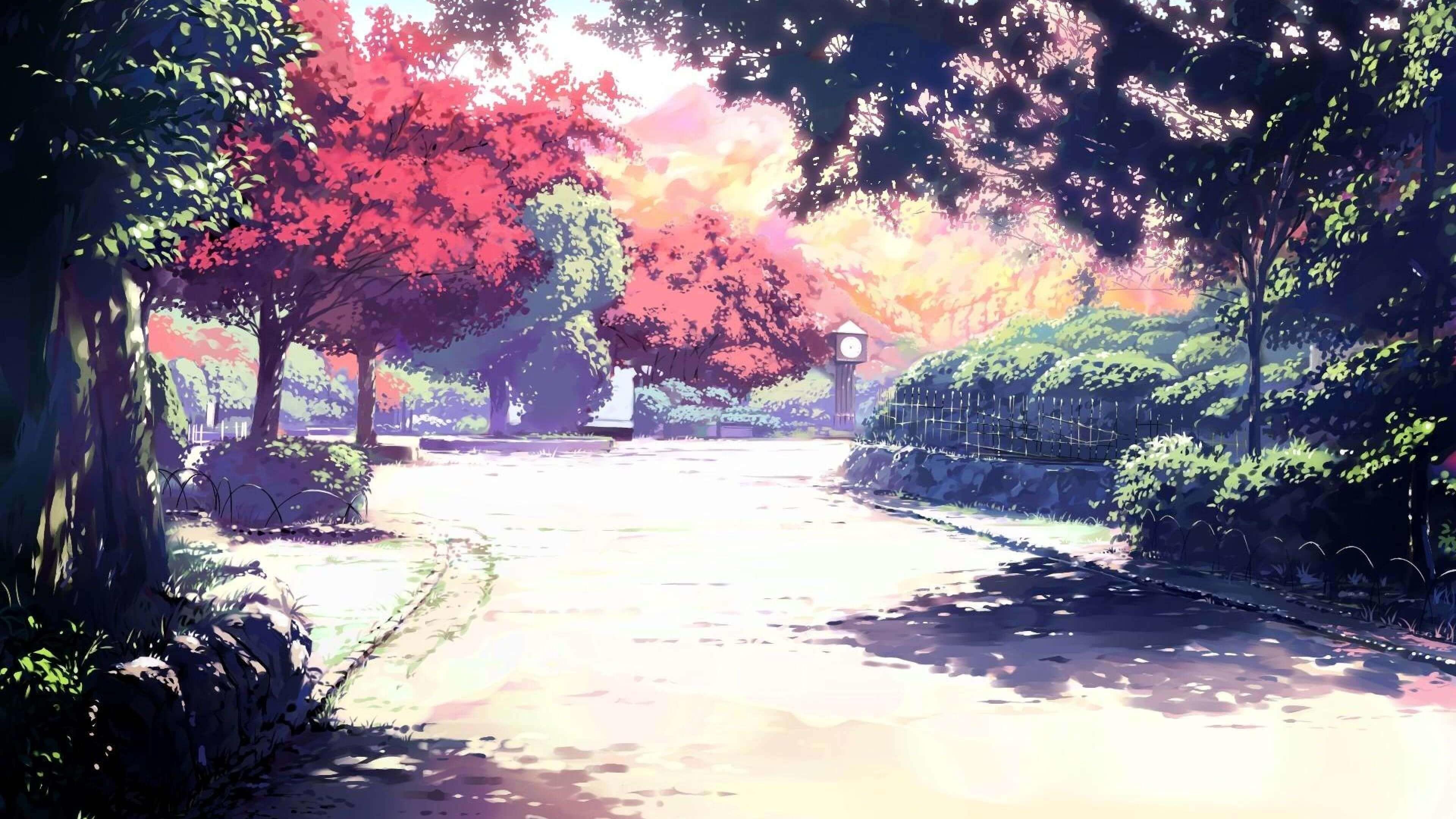 Res: 3840x2160, wallpaper.wiki-Sunlight-Spirited-Away-Anime-4k-HD-