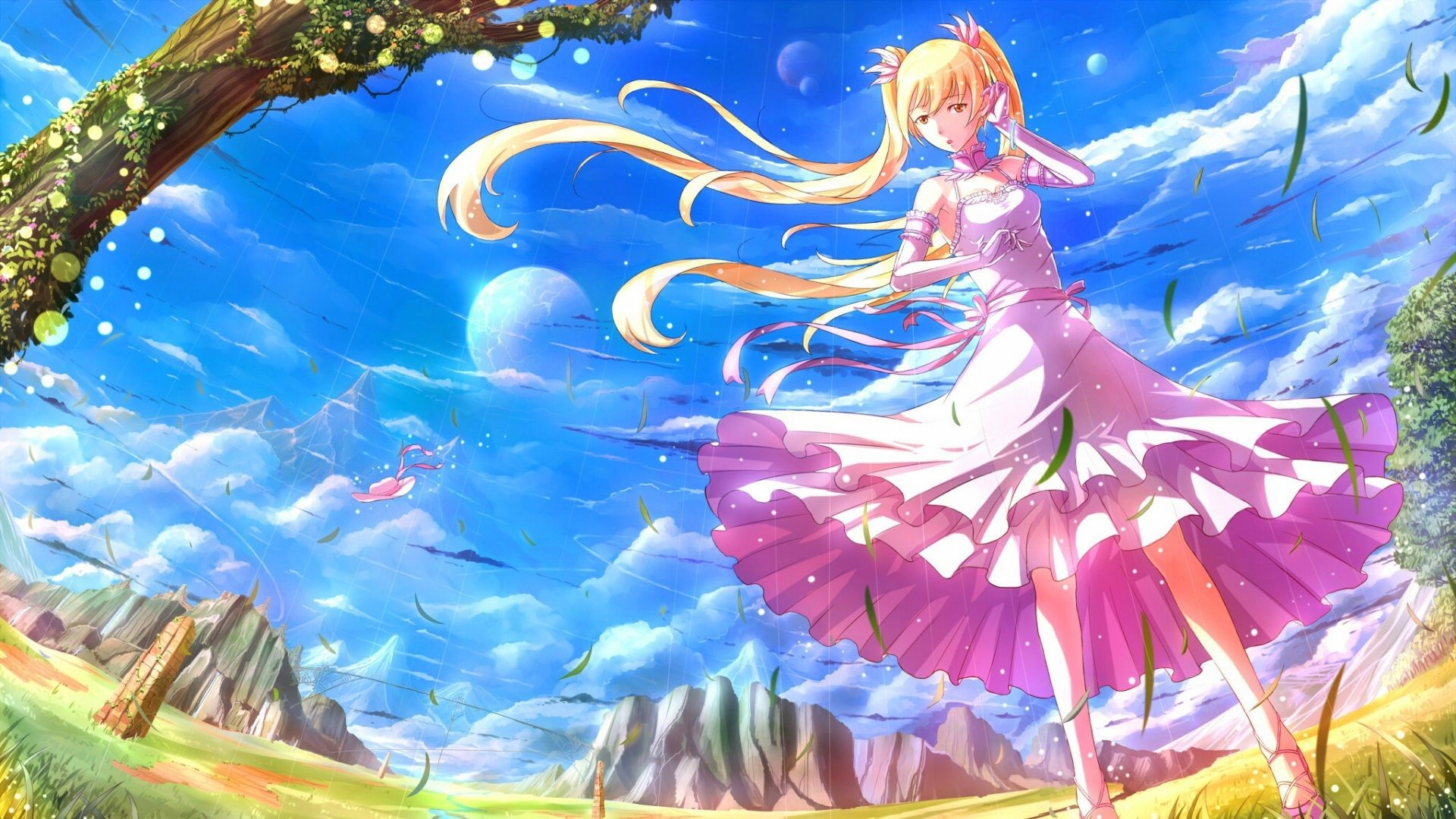 Res: 1920x1080, Download Anime HD Wallpapers Background Image girl hair blonde nature wind  14708