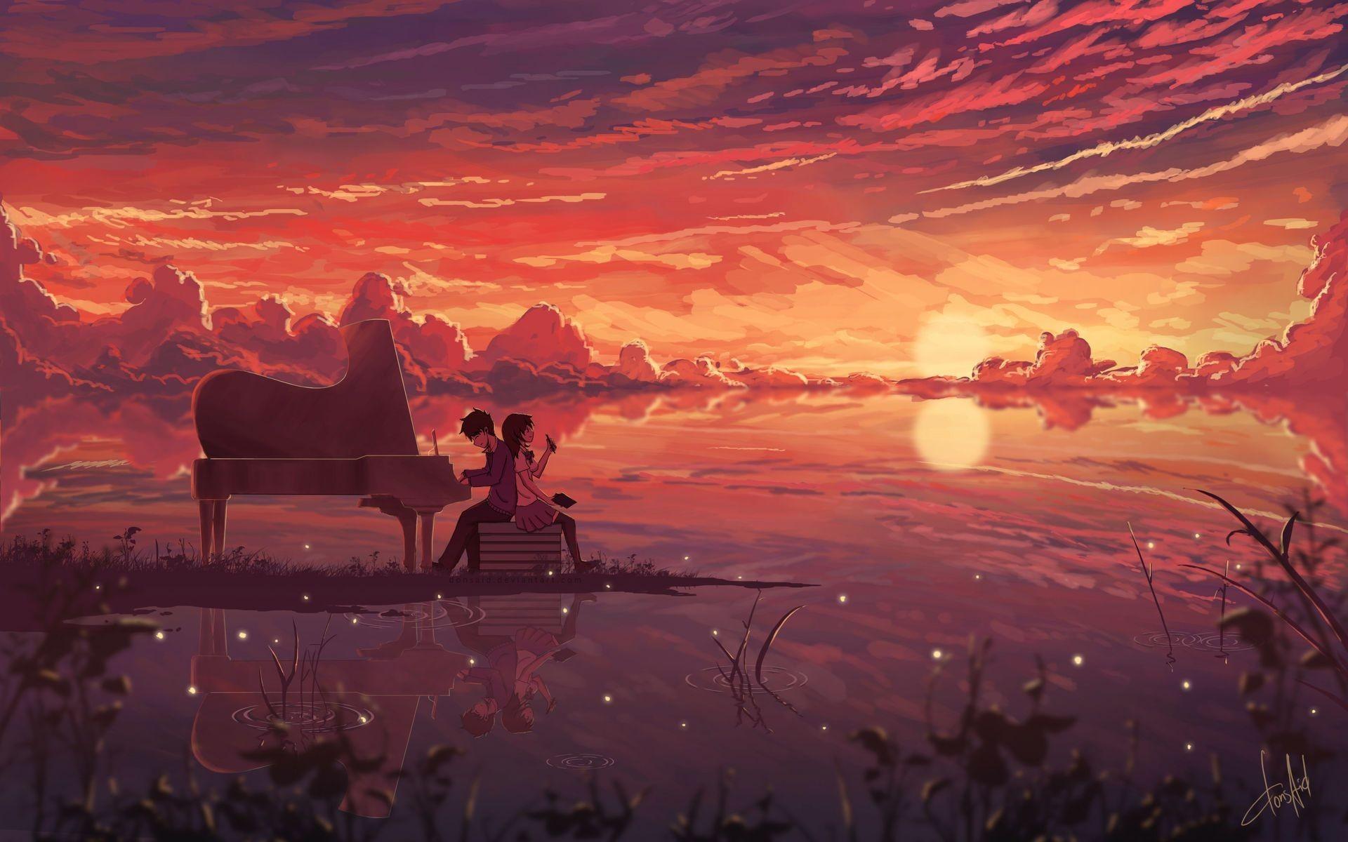 Res: 1920x1200, Anime Love Digital Art