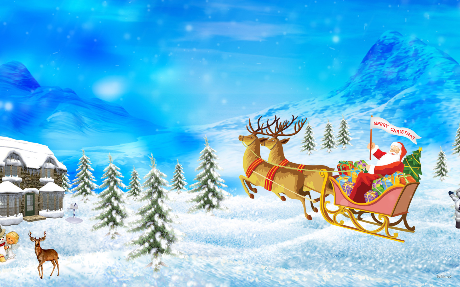 Res: 1920x1200, Santa Merry Christmas Wallpaper