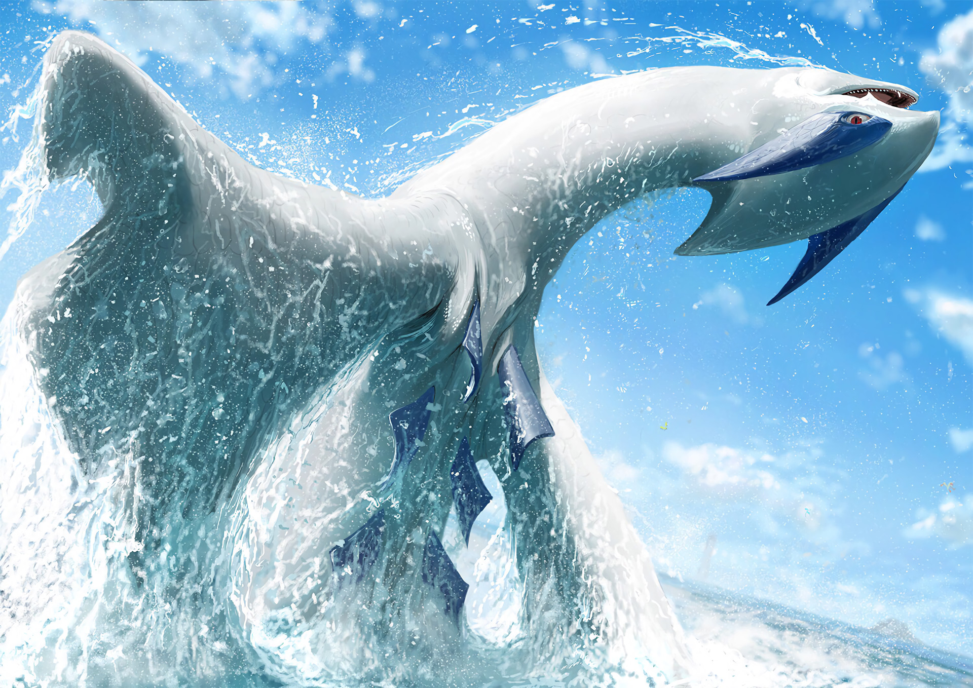 Res: 1920x1358, Legendary Pokémon Lugia · HD Wallpaper | Background Image ID:804335