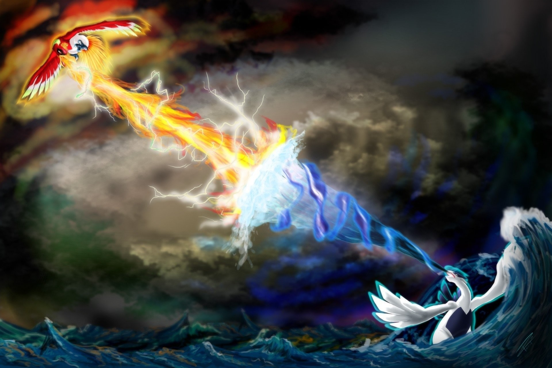 Res: 1920x1280, Computerspiele - Pokémon Lugia (Pokémon) Ho-oh (Pokémon) Wallpaper