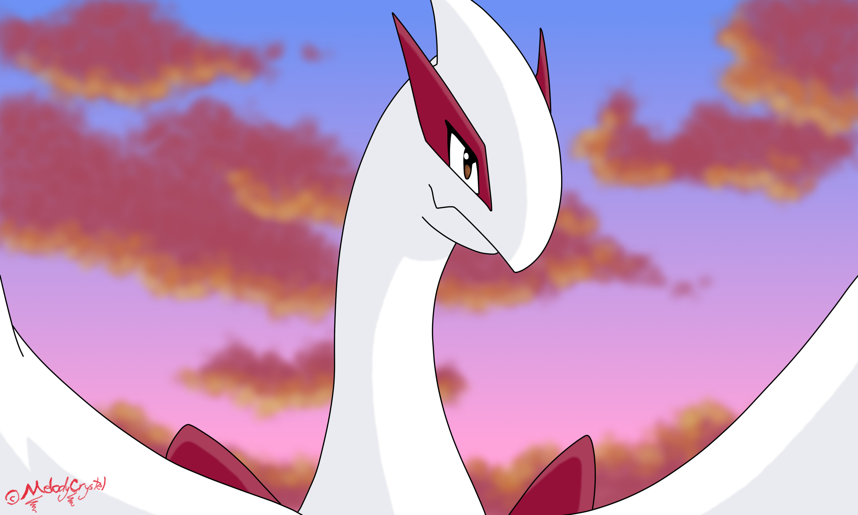 Res: 3000x1800, ... Shiny Lugia - Movie Scene by MelodyCrystel