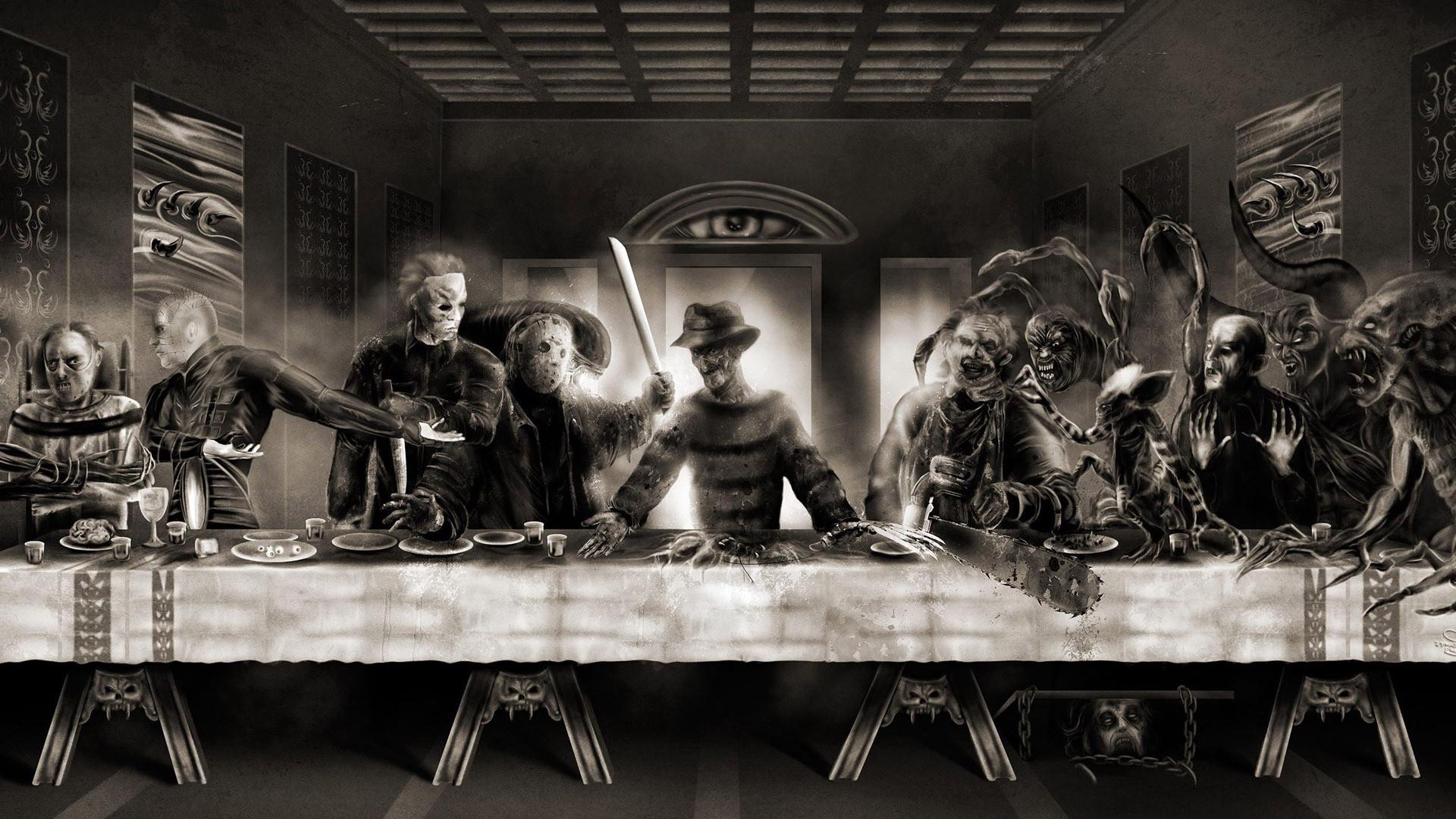 Res: 1920x1080, horror pictures | Horror Last Supper wallpaper - 1207184