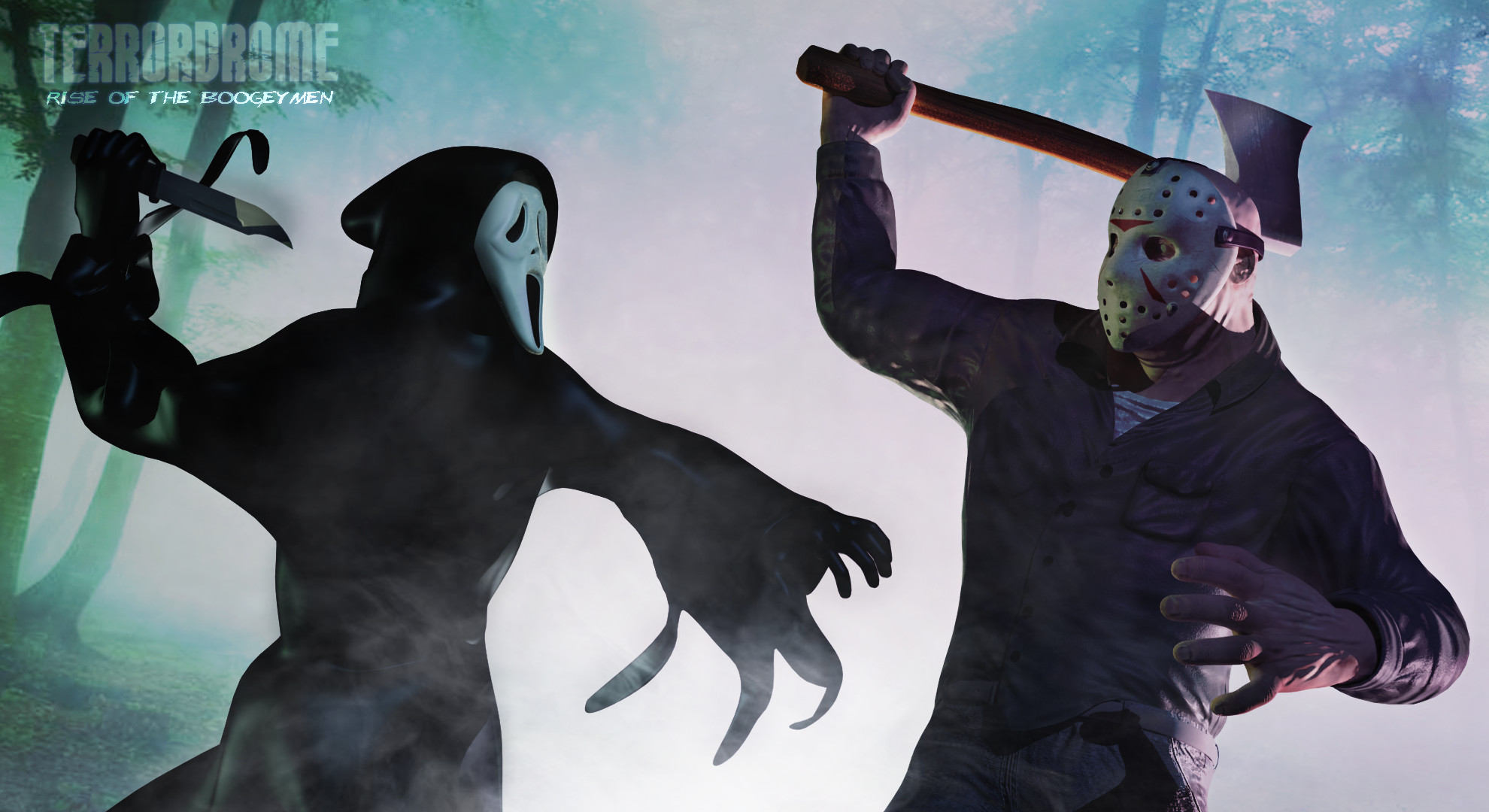 Res: 1980x1080, Ghostface vs Classic Jason Voorhees