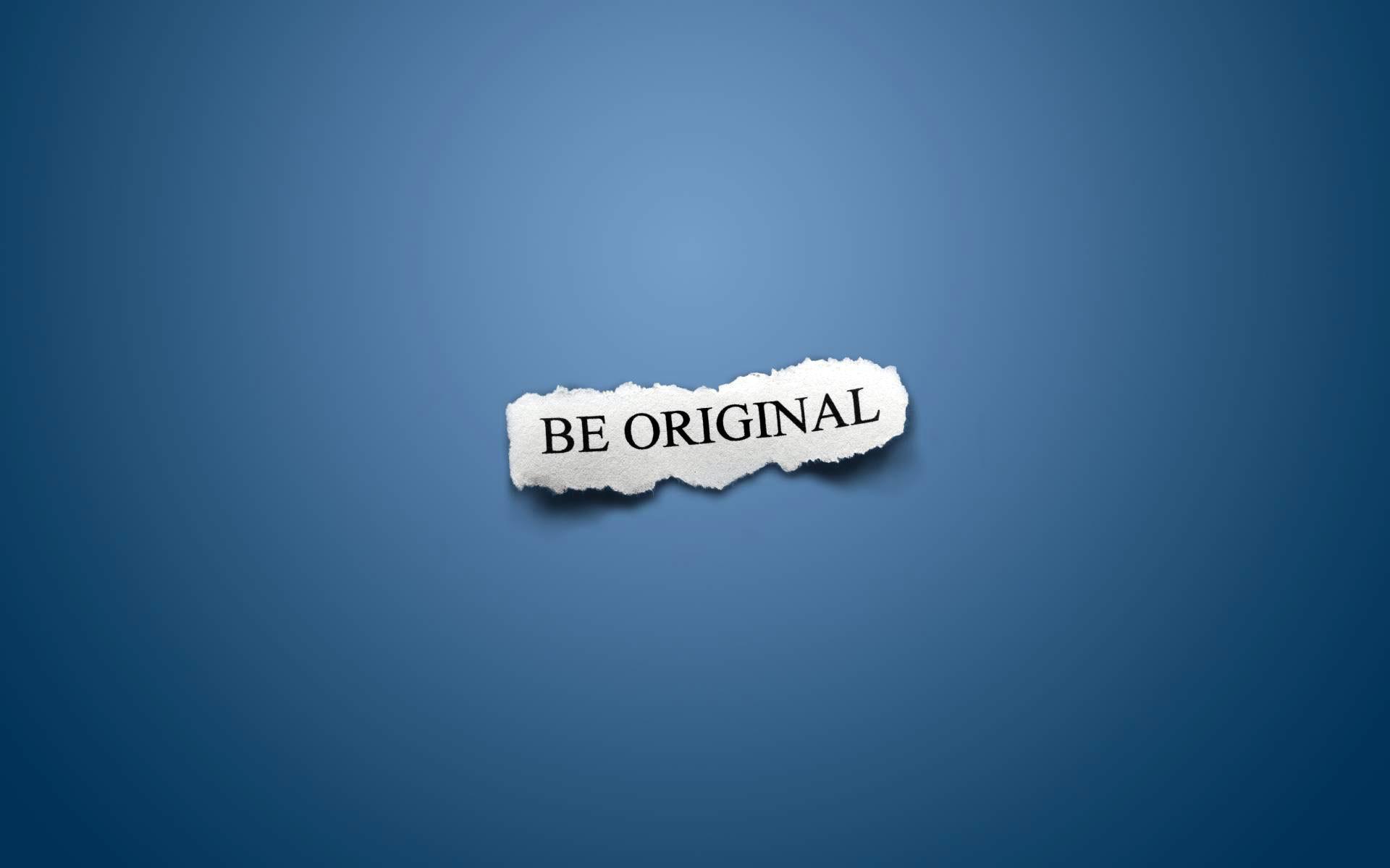 Res: 1920x1200, be original motivational wallpaper