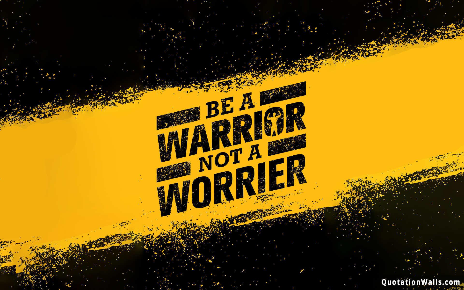 Res: 1920x1200, Be A Warrior Wallpaper For Desktop