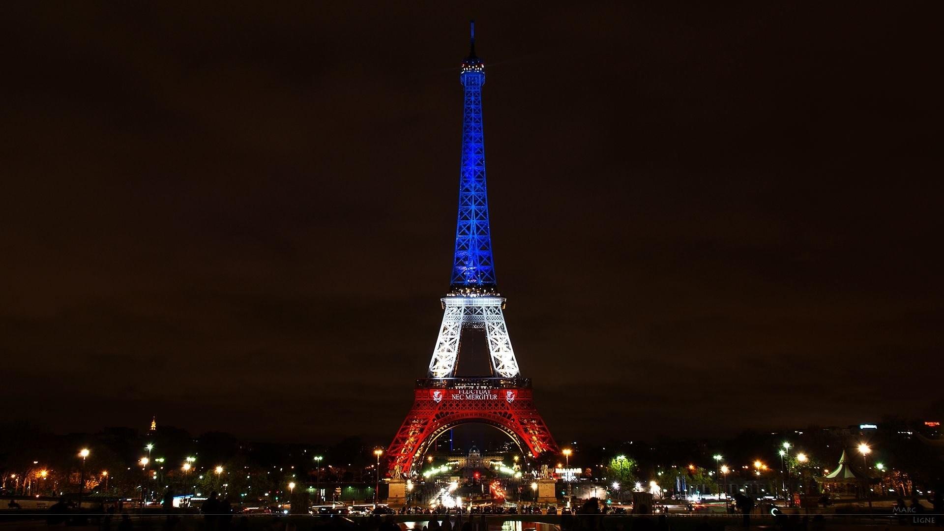 Res: 1920x1080, Menschengemacht - Eiffelturm Paris Night Licht Frankreich Großstadt  Wallpaper