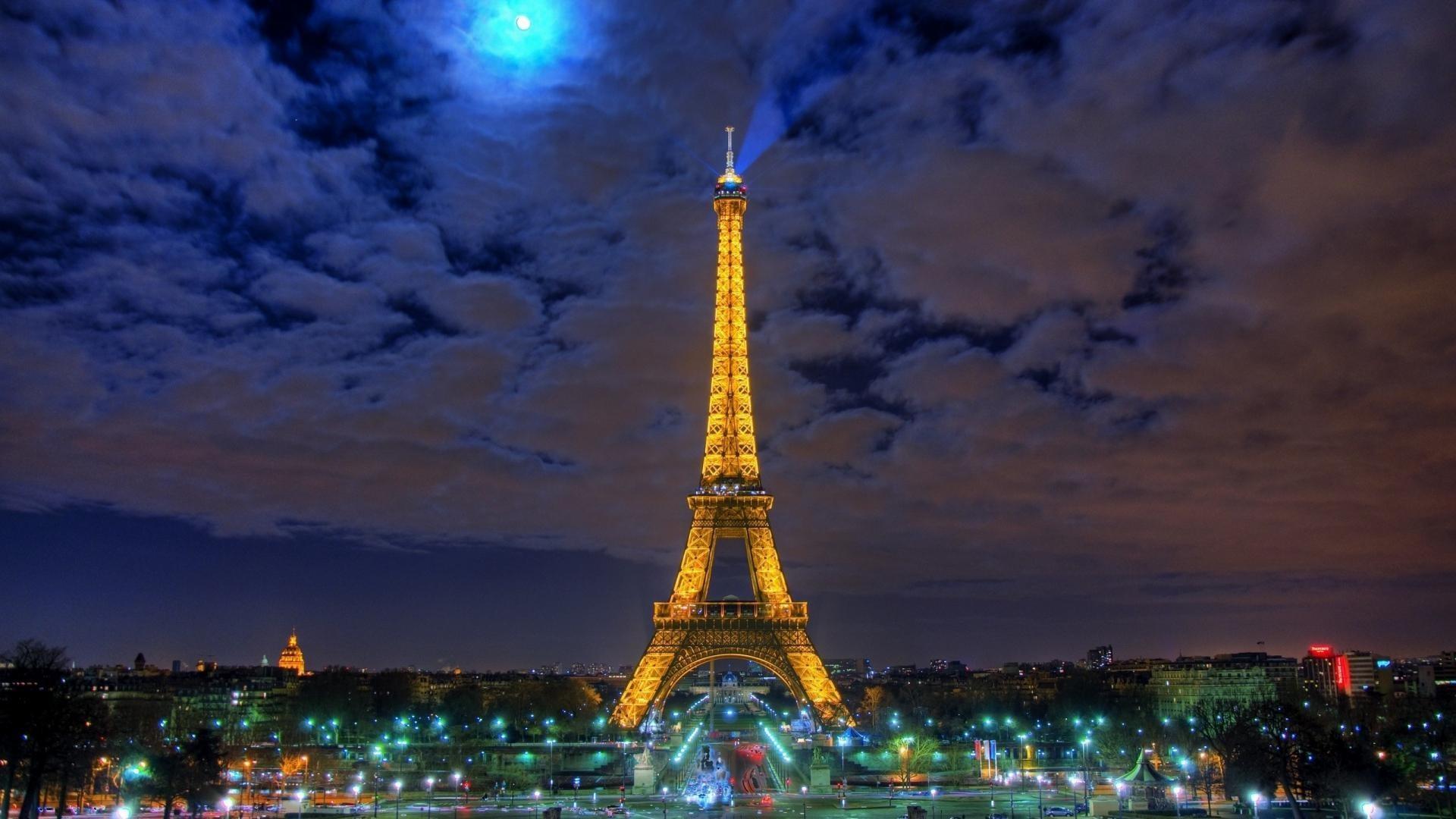 Res: 1920x1080,  Eiffel-tower-paris-france-at-night-hd-wallpaper