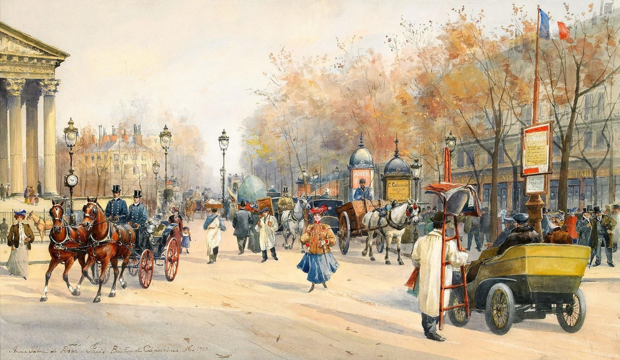 Res: 2064x1200, anna palm de rosa paris boulevard des capucines boulevard wagon windows  lamps watches french flag france