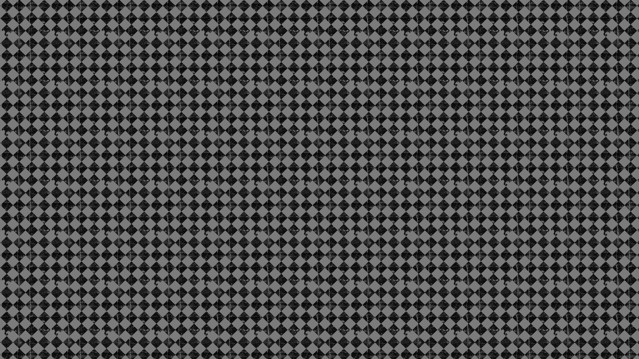 Res: 2560x1440, Grey Grunge Checkers Desktop Wallpaper