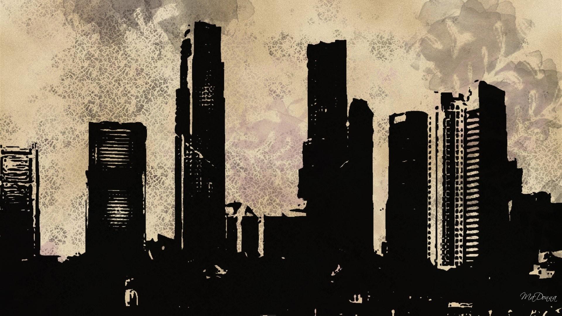 Res: 1920x1080, grunge city