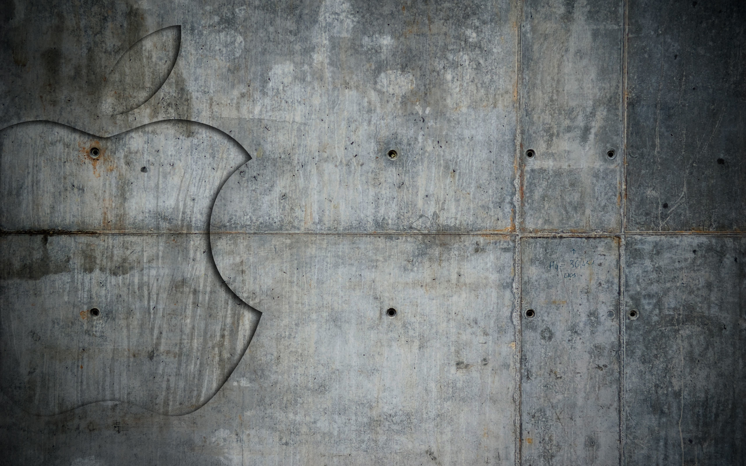 Res: 2560x1600, Image: Grunge Metal Apple wallpapers and stock photos. Â«