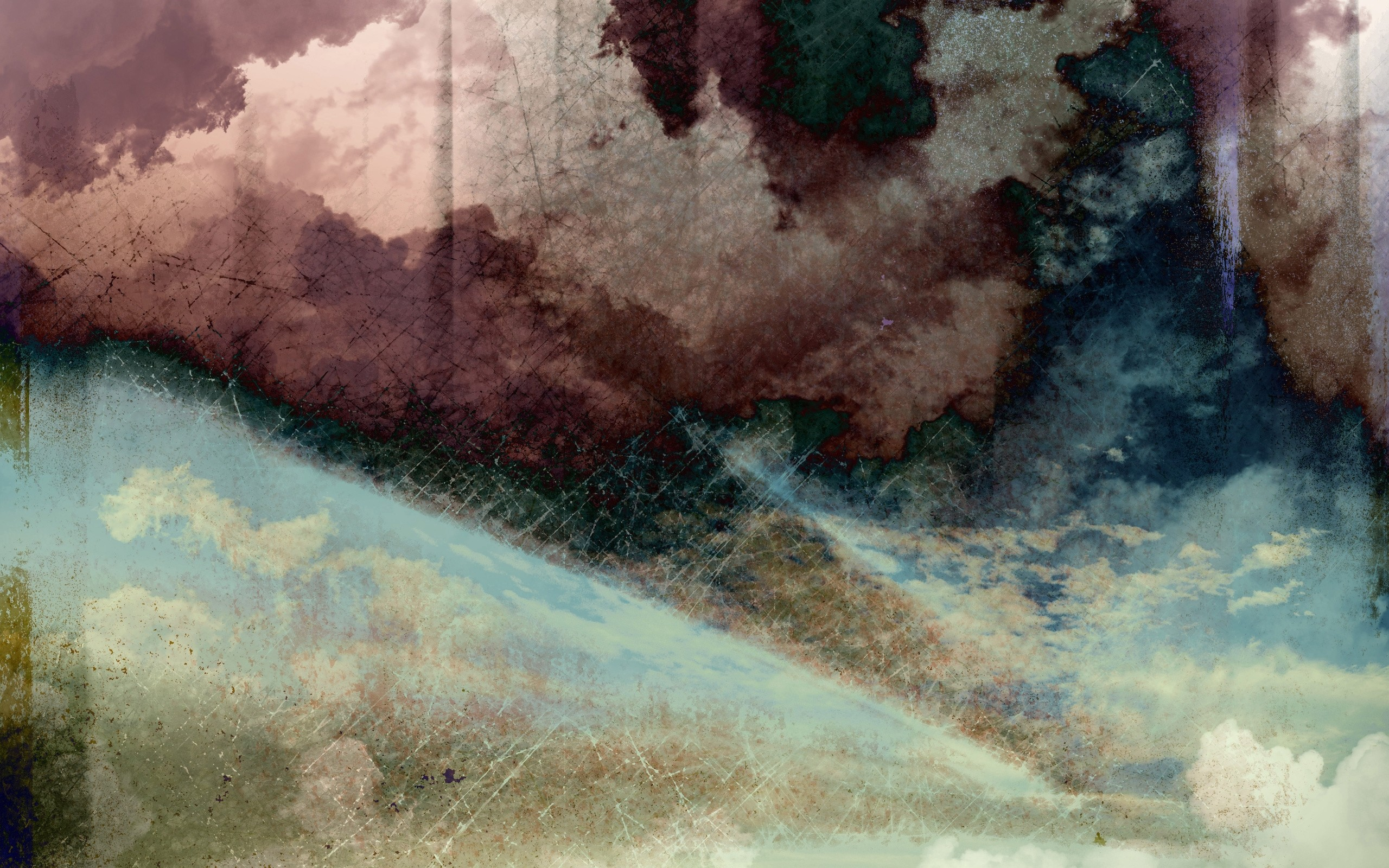 Res: 2560x1600, Wallpaper Grunge, Sky, Clouds, Spots HD, Picture, Image