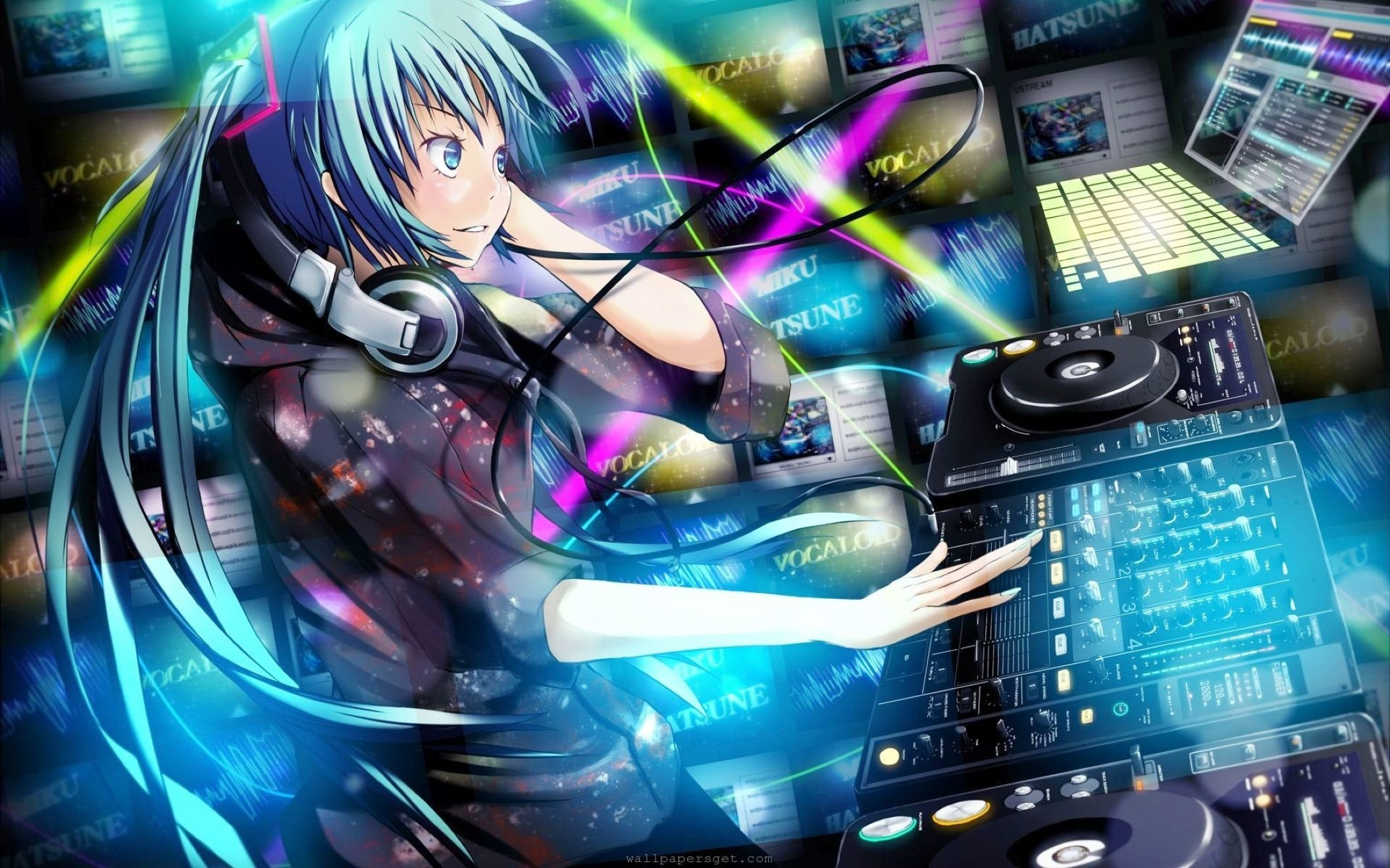 Res: 2112x1320, Anime Dj Music Wallpaper