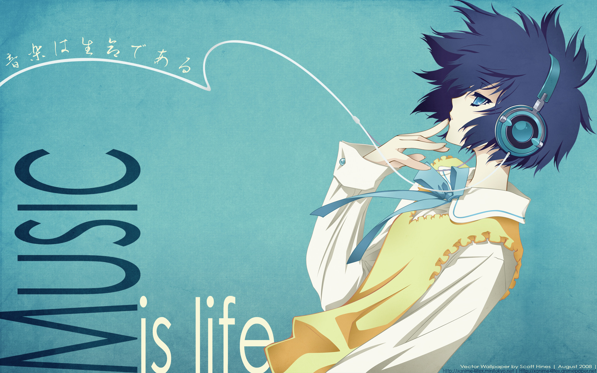 Res: 1920x1200, anime music wallpaper-18