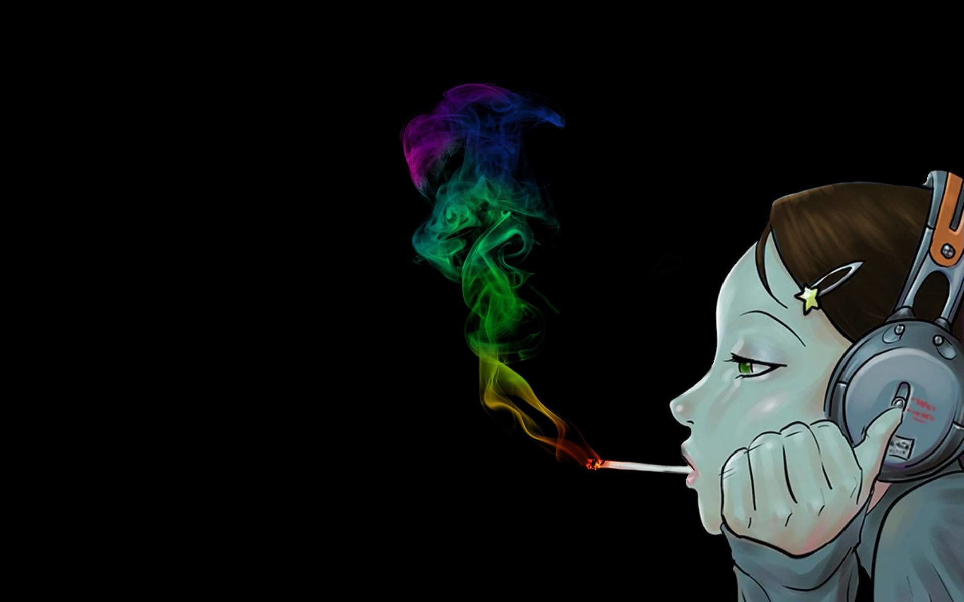 Res: 1920x1200, Smoking Anime Music Wallpaper HD