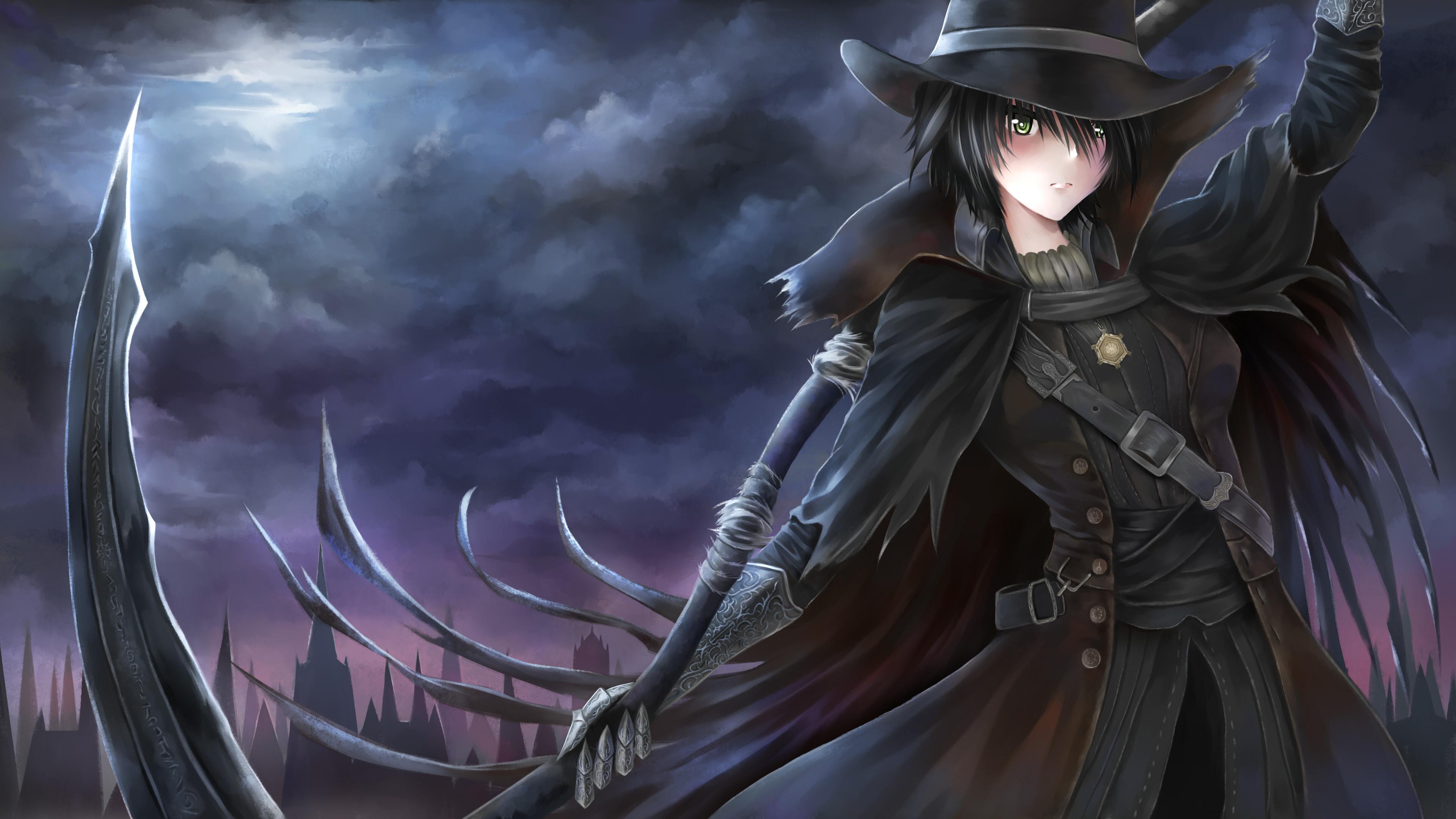 Res: 3840x2160, Bloodborne Anime Wallpaper