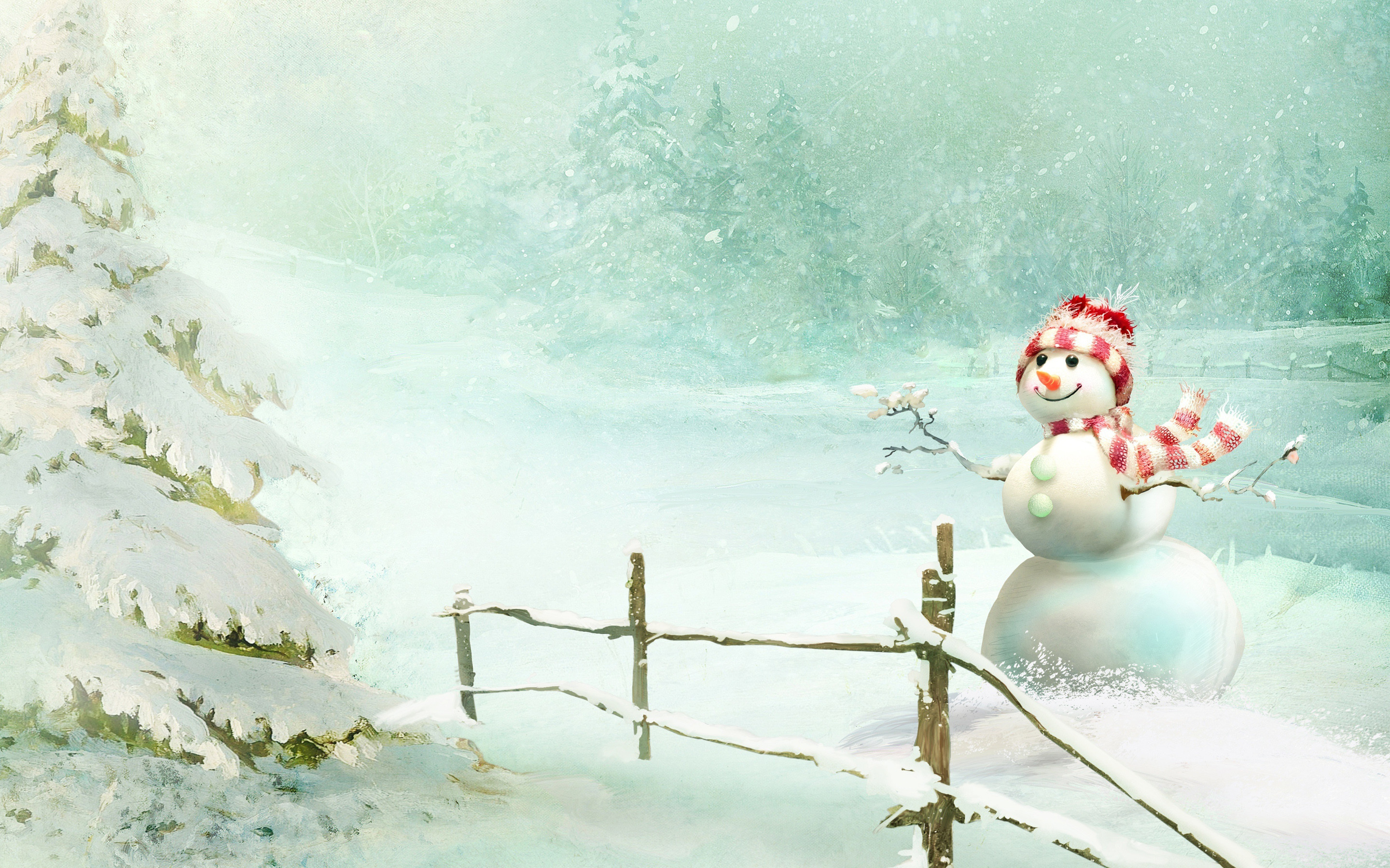Res: 2880x1800, Christmas Snowman wallpapers