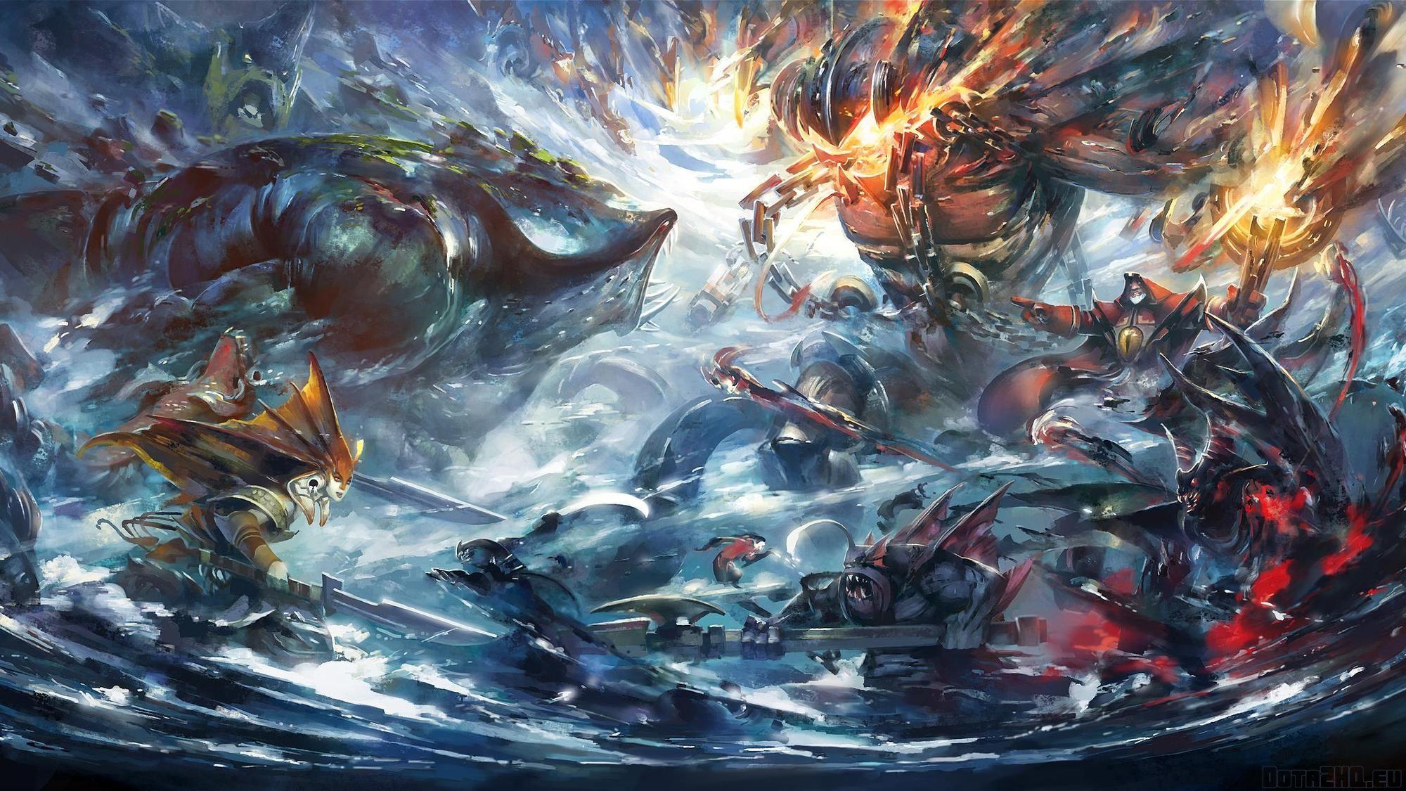 Res: 2000x1125, dota 2, epic battle, art
