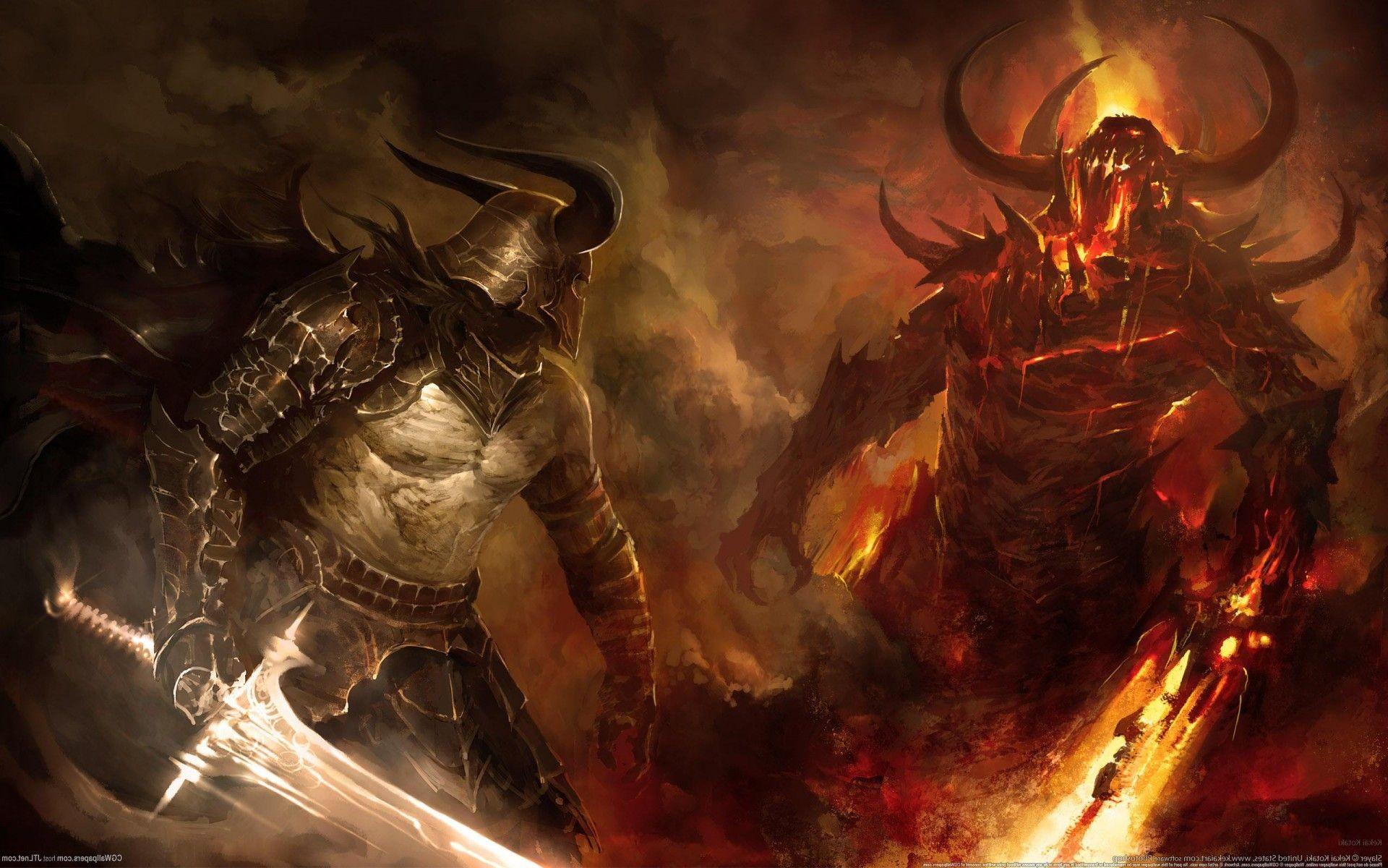 Res: 1920x1200, epic-battle-btw-2-warriors-318942.jpg (1920×